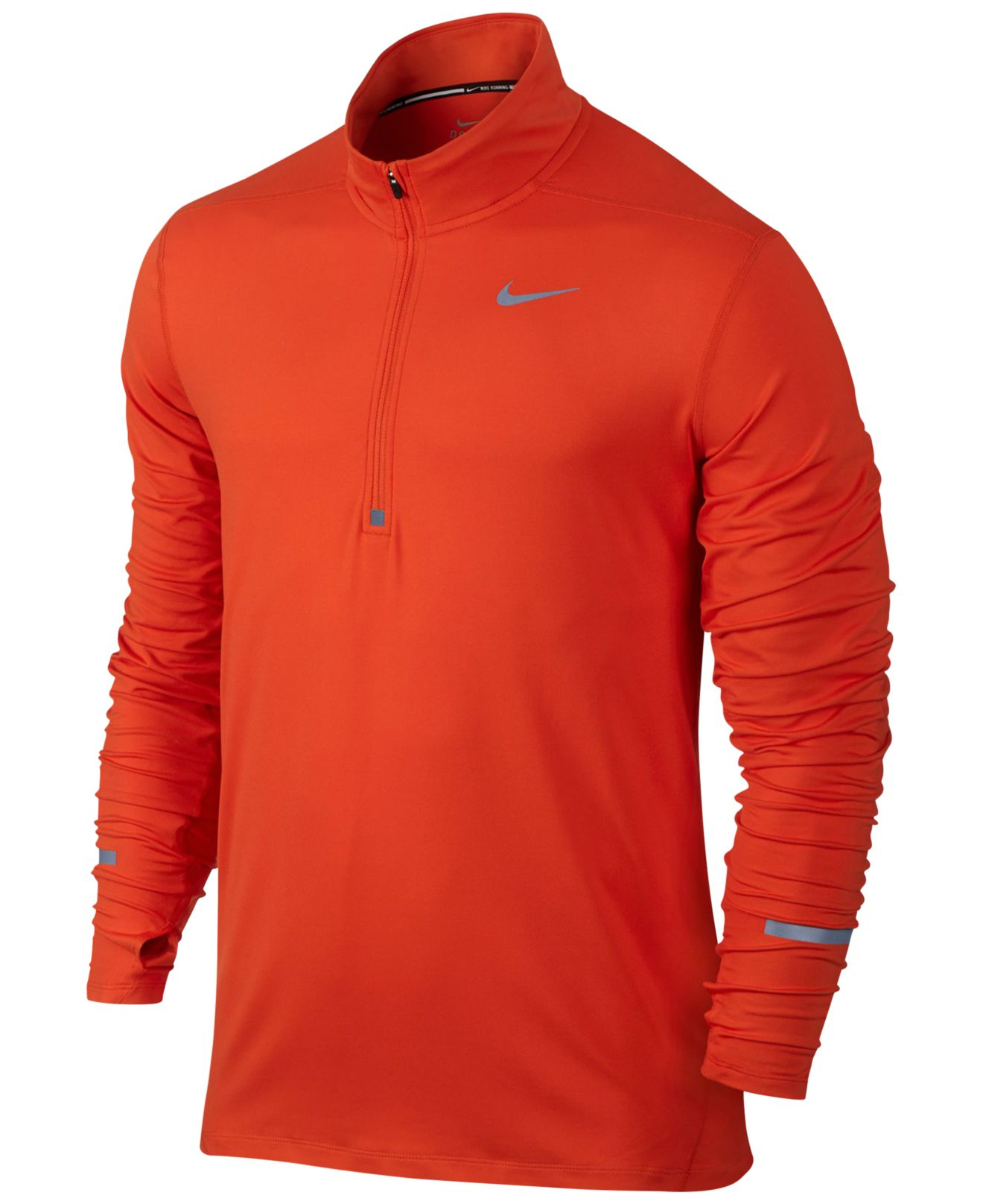 8bc56c075360b Nike Men s Element Dri-fit Half-zip Running Shirt in Orange for Men ...