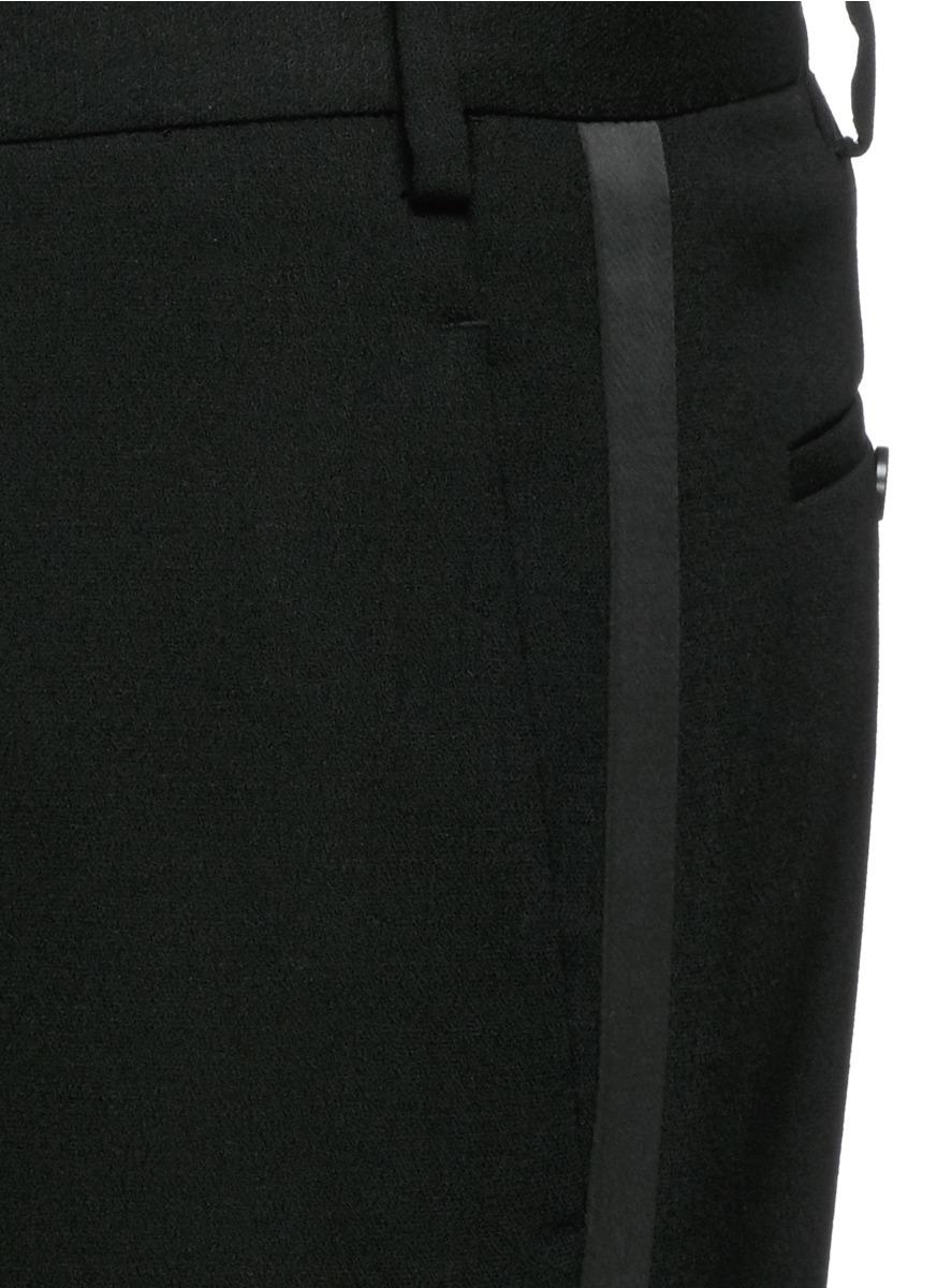 Lyst Neil Barrett Satin Stripe Virgin Wool Tuxedo Pants