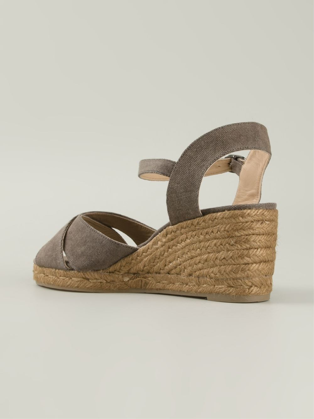 c38fb9834d2 Lyst - Castaner  Blaudell  Espadrille Wedge Sandals in Gray