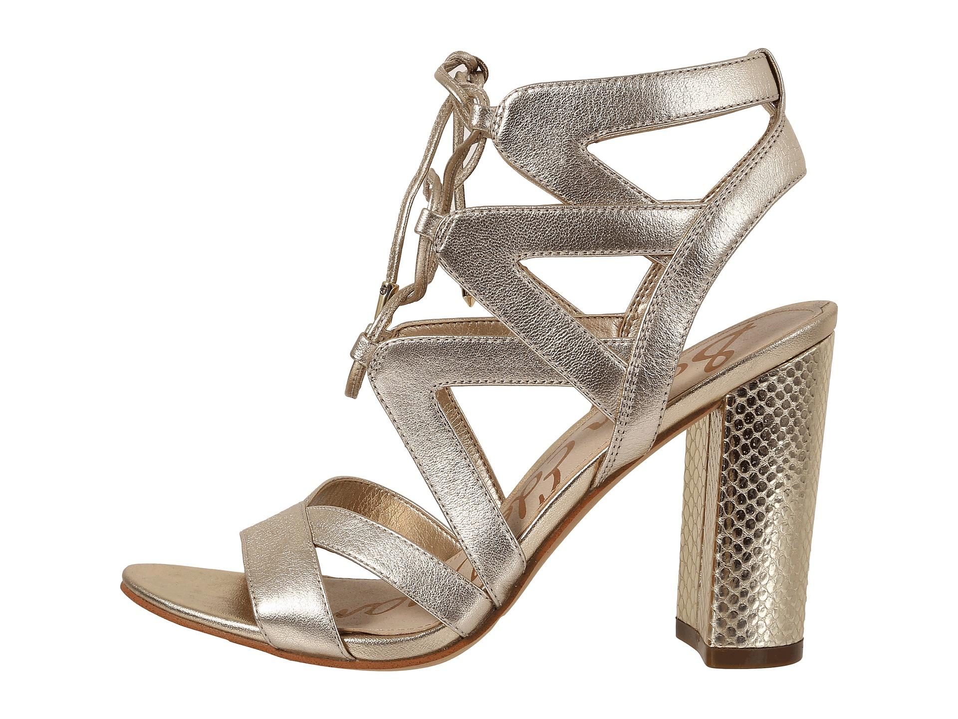 ed27ad5b65747f Lyst - Sam Edelman Yardley Metallic Cut-Out Leather Sandals in Metallic