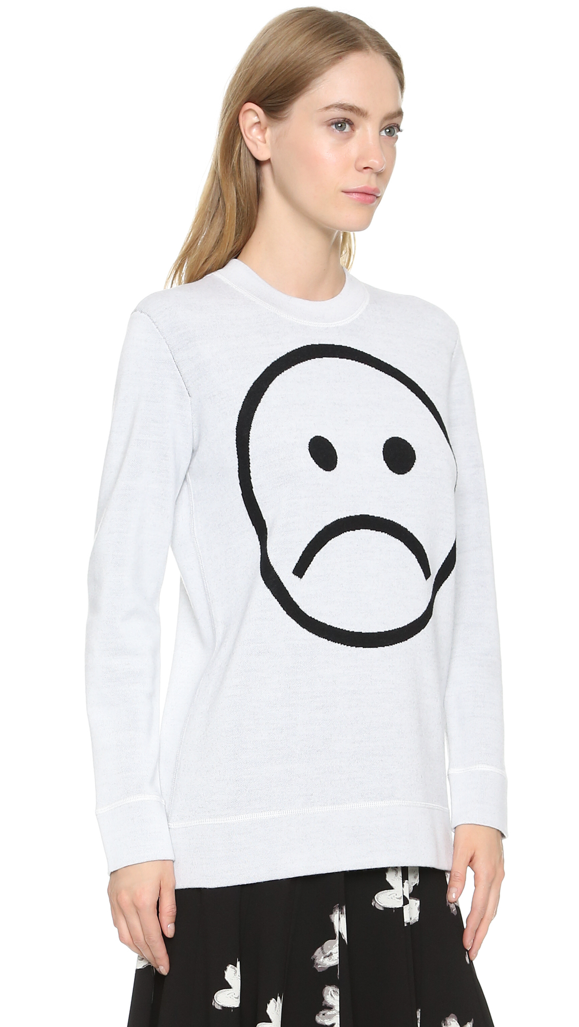 Lyst Marc By Marc Jacobs Sad Face Sweater Microchip
