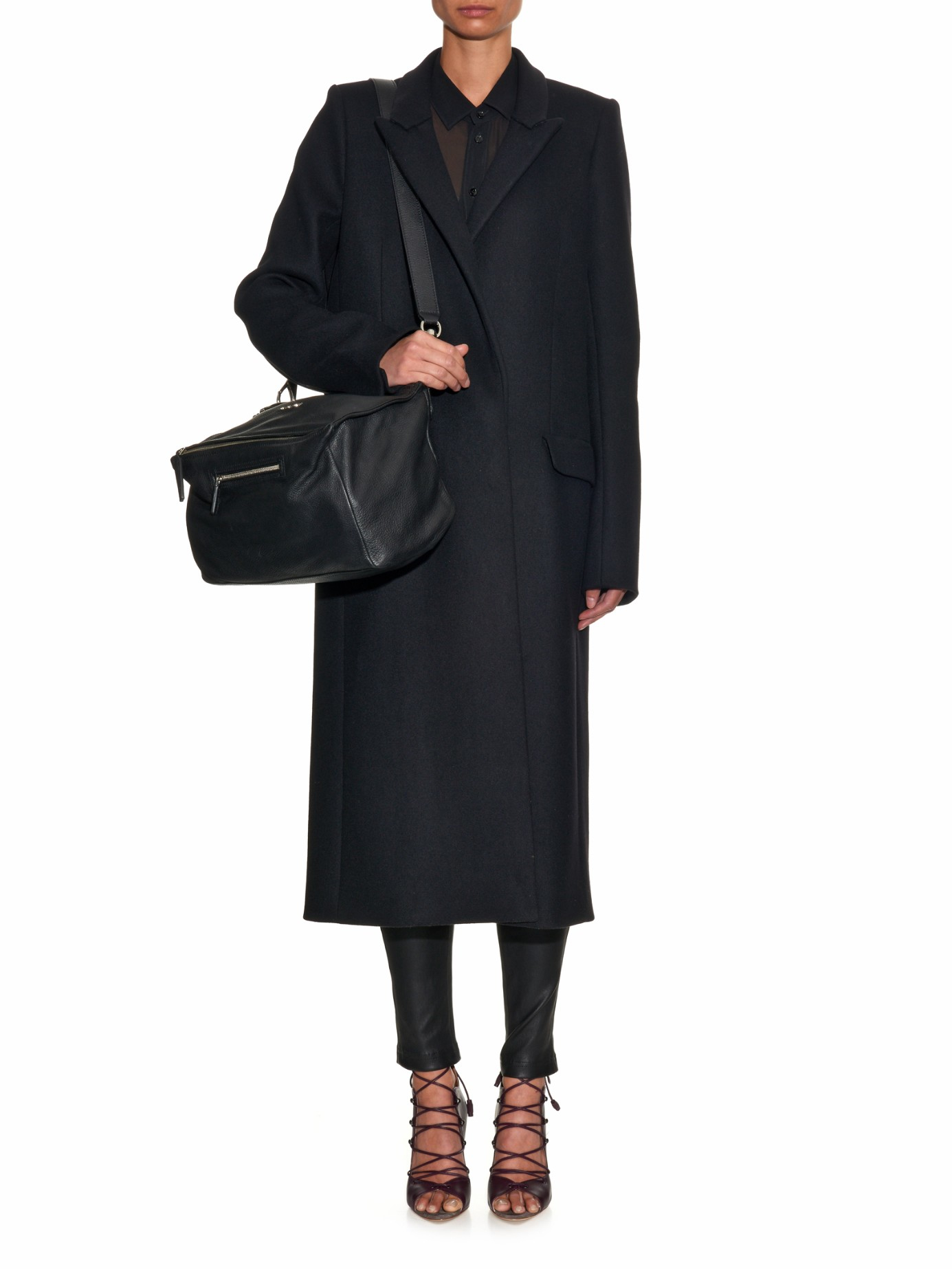 cc36725d5218 Lyst - Givenchy Pandora Medium Sugar-leather Bag in Black