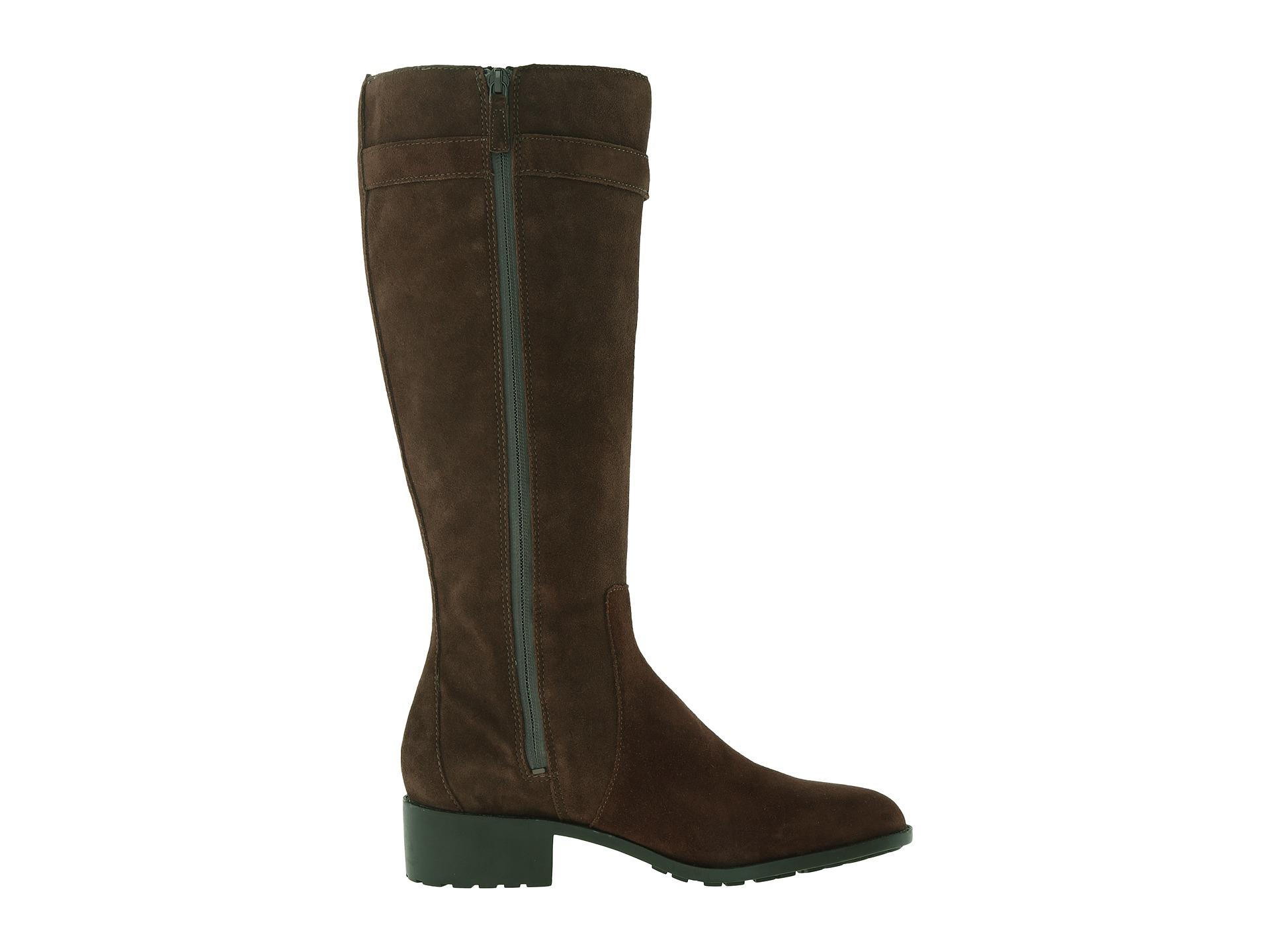 cole haan putnam waterproof boot in brown chestnut suede