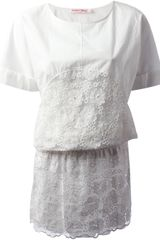 See By Chloé Embroidered Organza Dress - Lyst