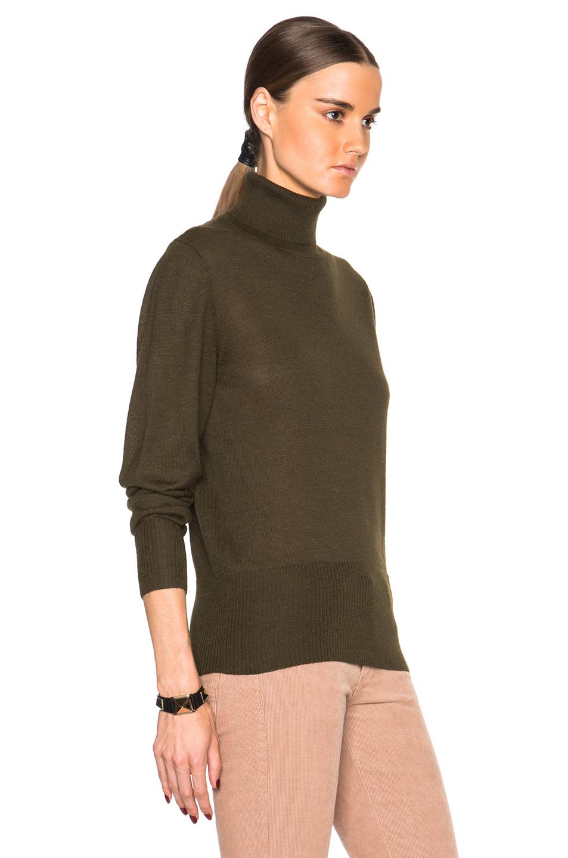 Rachel comey Turtleneck Sweater in Green | Lyst