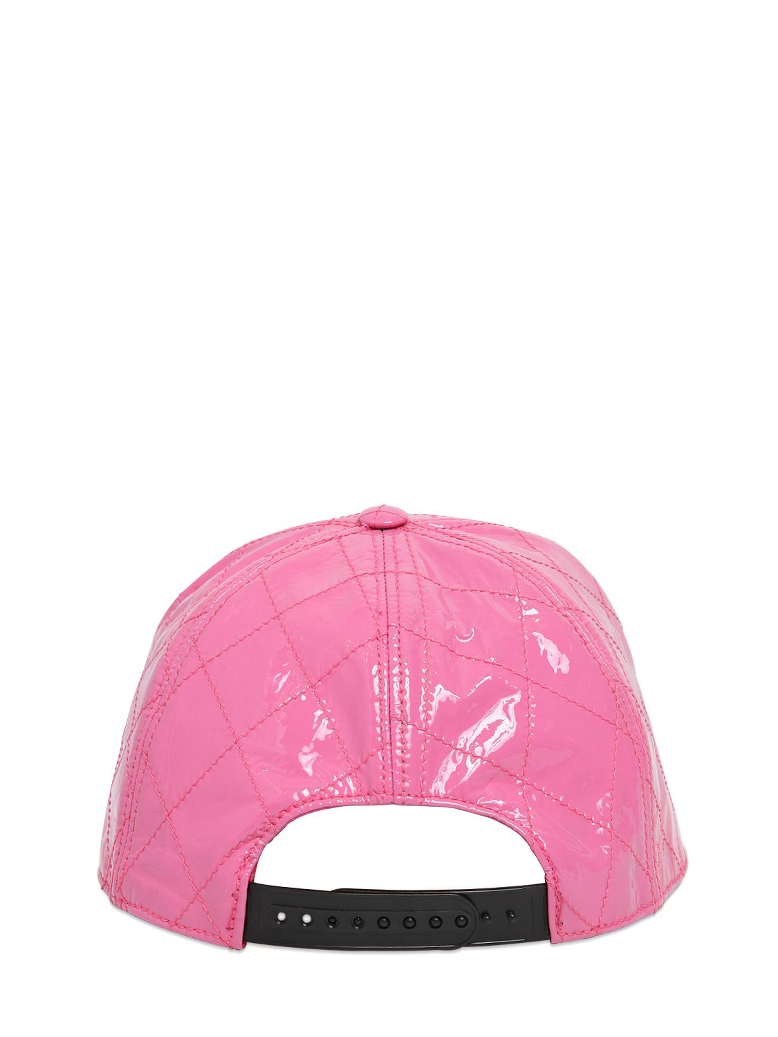Lyst - Moschino Quilted Patent Leather Baseball Cap in Pink 8f4df5417cf