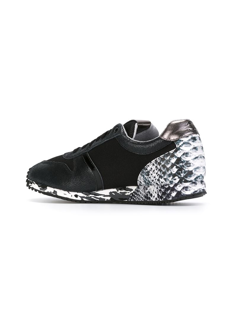 patch sneakers - Black Just Cavalli R2dw1p6