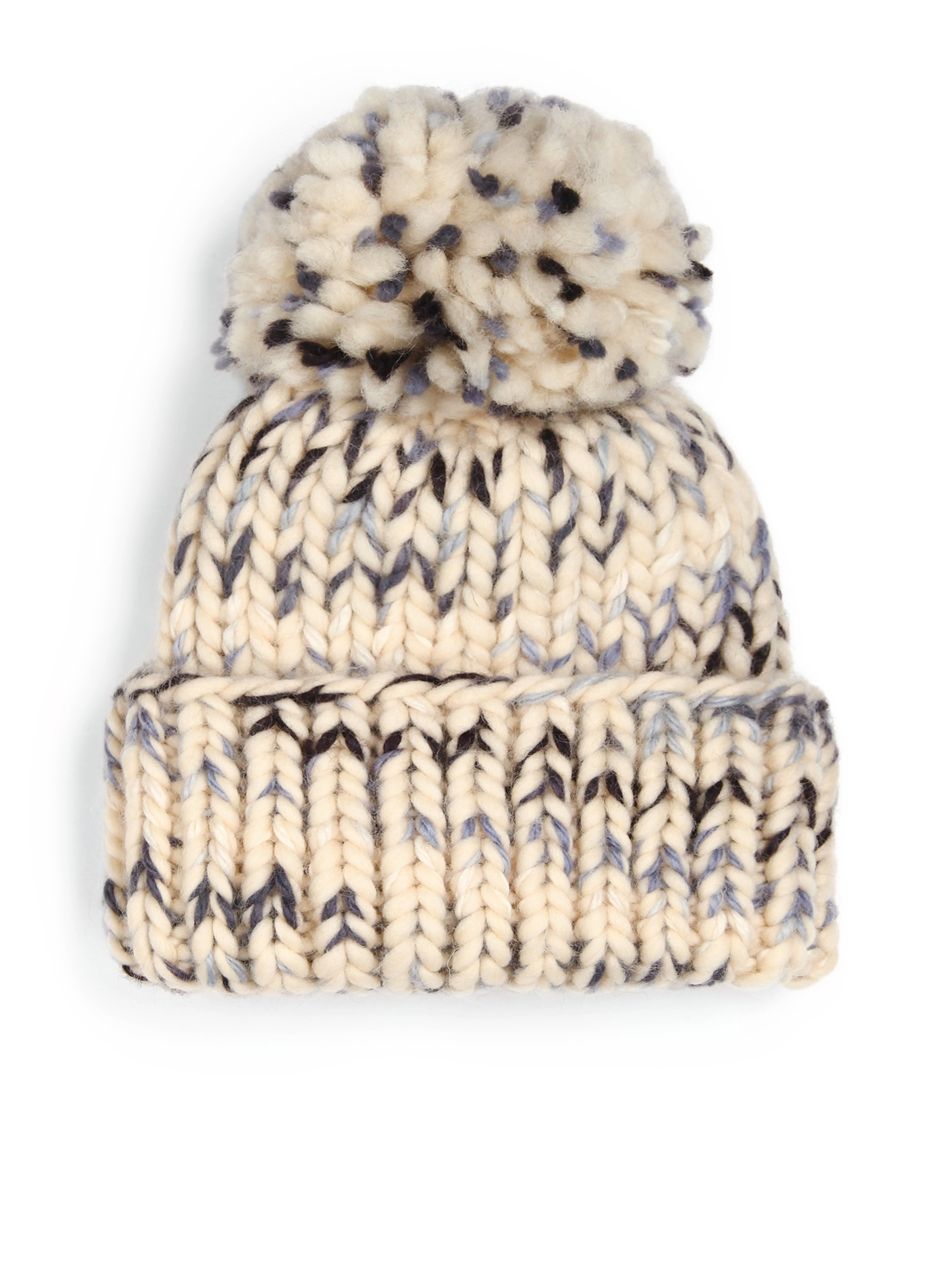 Lyst - Eugenia Kim Rain Wool   Alpaca Pom-pom Hat in Natural d86240e5704