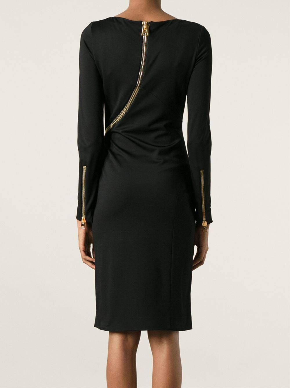 Tom Ford Zip Detail Pencil Dress In Black Lyst