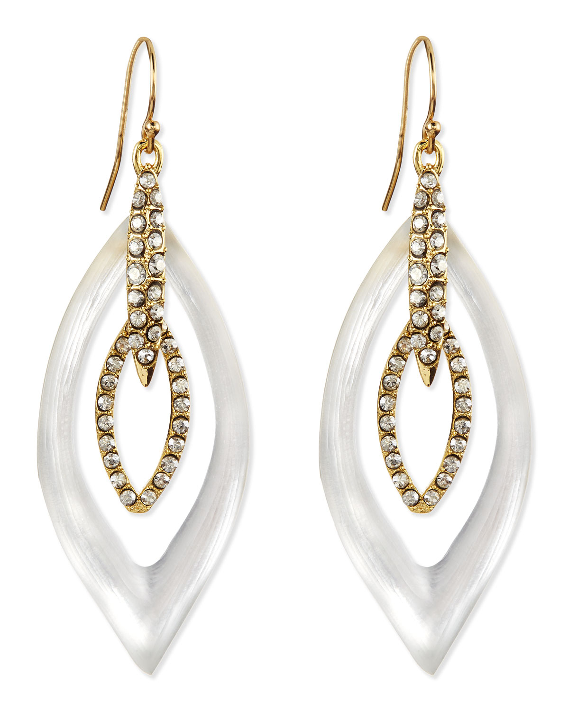 Alexis bittar jardin mystere lucite crystal earrings in for Jardin francais jewelry