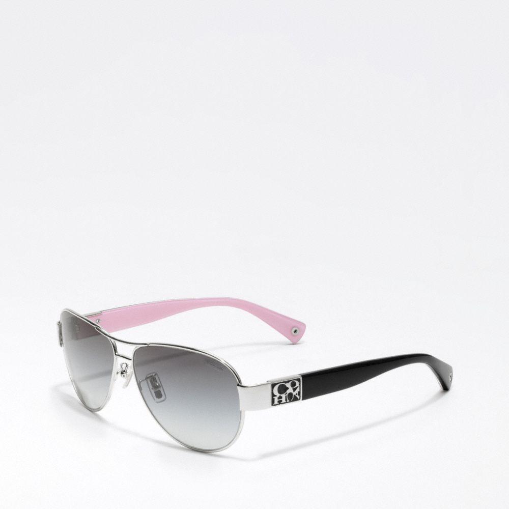 90d4ed6c29 ... italy lyst coach charity sunglasses in metallic 61c3a b017d