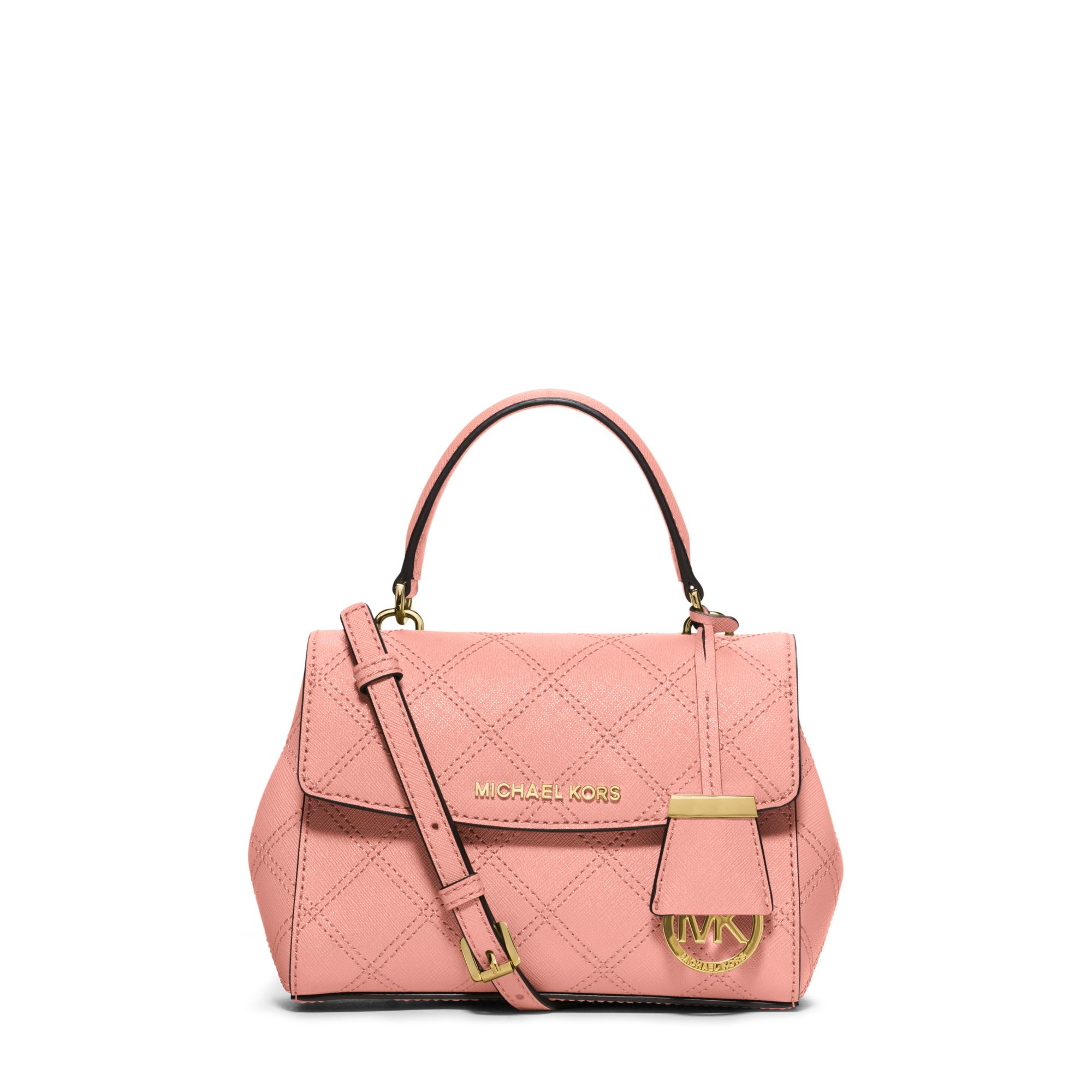 cbaa9afe11b0 Lyst - Michael Kors Ava Extra-small Saffiano Leather Crossbody in Pink