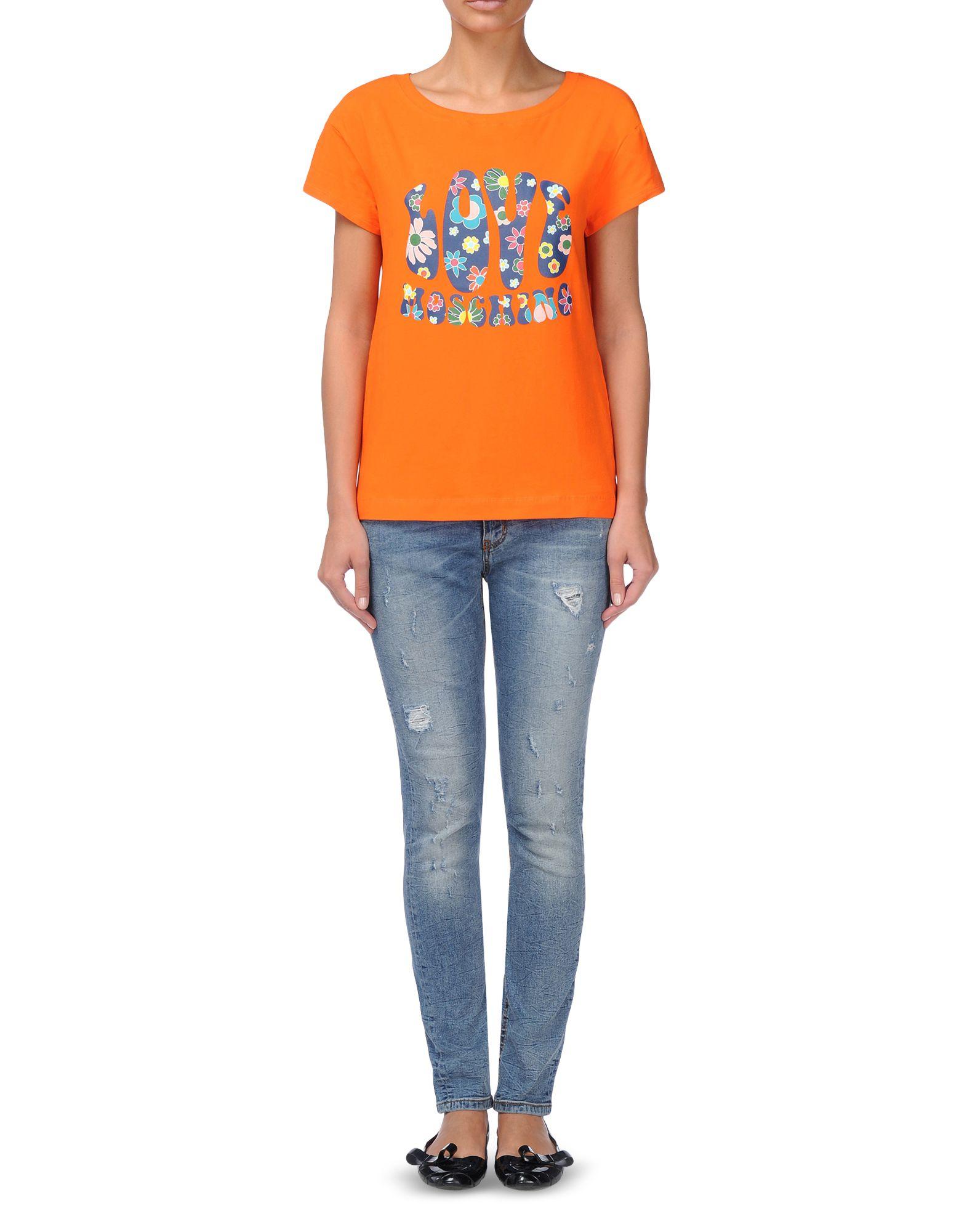 love moschino t shirt orange dsquared2 uk. Black Bedroom Furniture Sets. Home Design Ideas