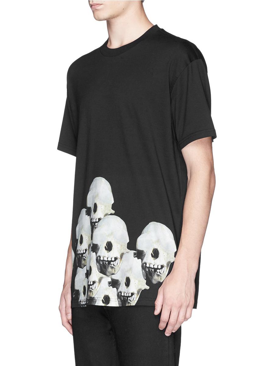 0a12d8af3 Lyst - Givenchy Monky Skulls Print T-Shirt in Black for Men