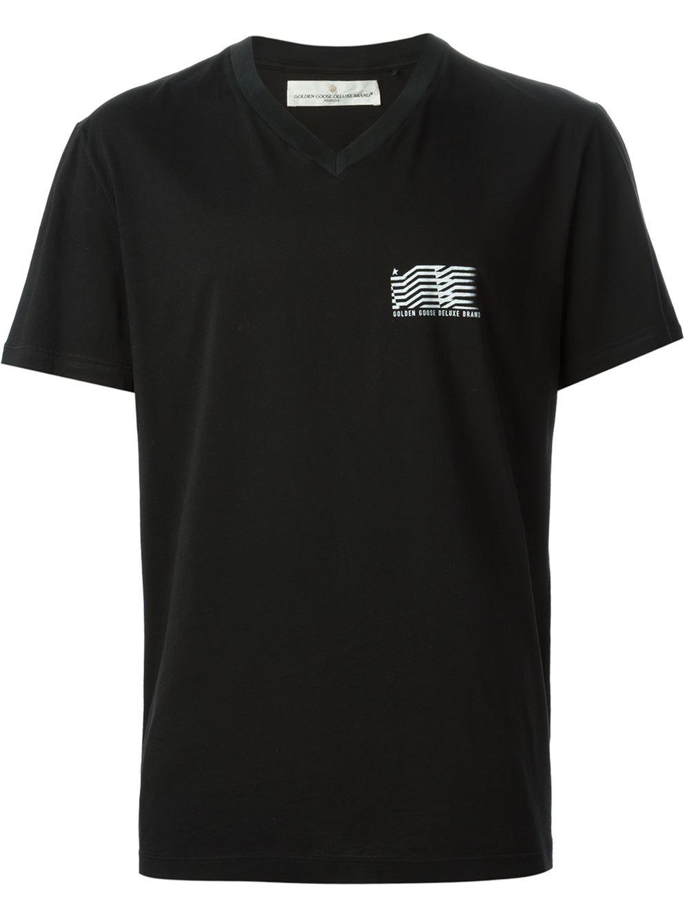 Golden goose deluxe brand logo detail cotton t shirt in for T shirt brand logo