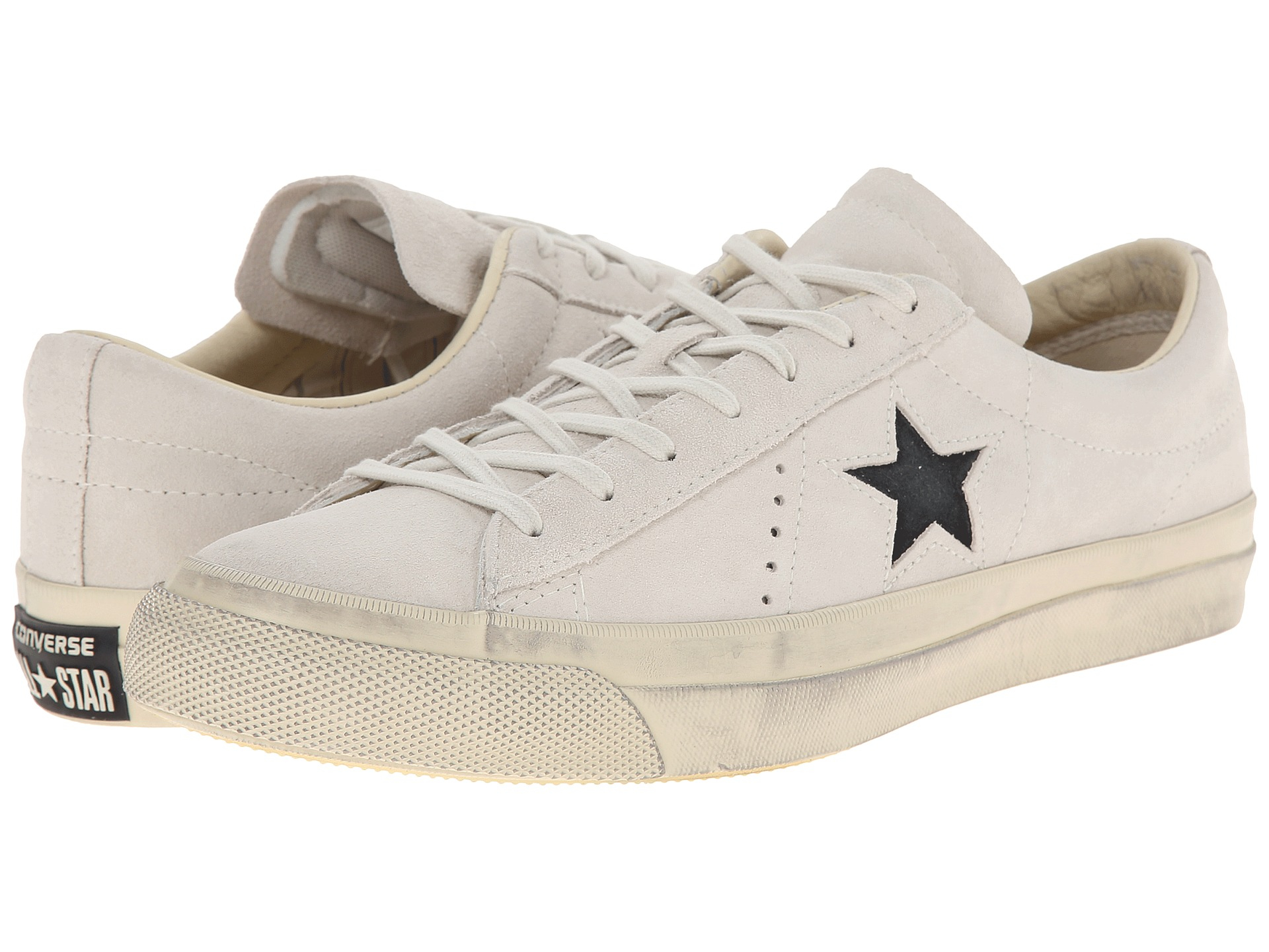2755596df9db ... Converse One Star Burnished Suede in White Lyst Converse by John  Varvatos Oxford CTAS ...