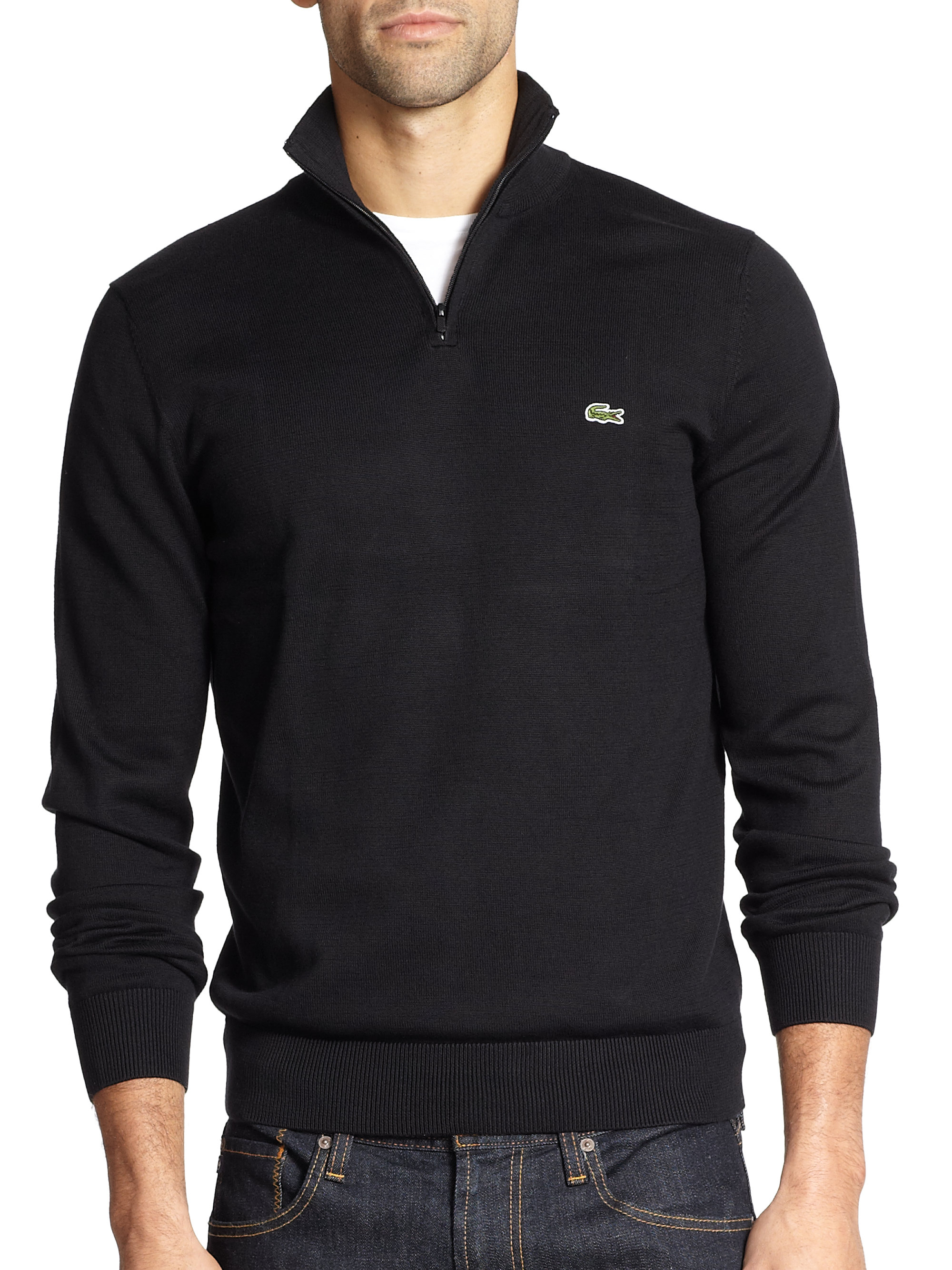 lacoste half zip sweater jumpers sale. Black Bedroom Furniture Sets. Home Design Ideas