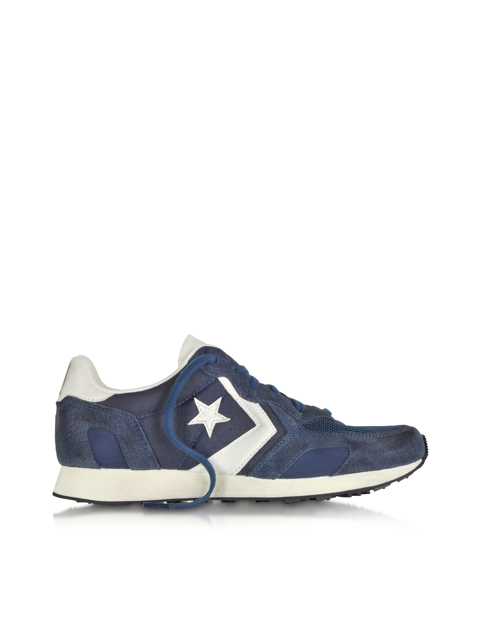 Lyst - Converse Auckland Racer Ox Navy Blue Nylon And Suede Sneaker ... b9938cb22