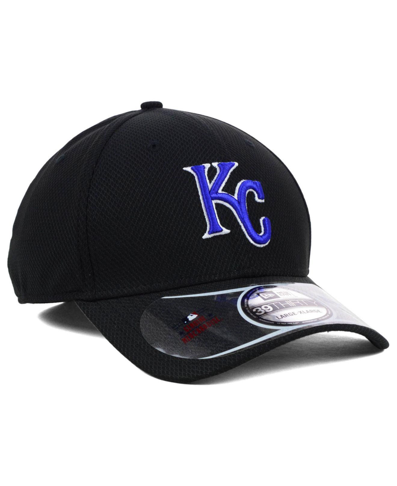 2abf0cc2 Lyst - KTZ Kansas City Royals Diamond Era Black 39Thirty Cap in ...