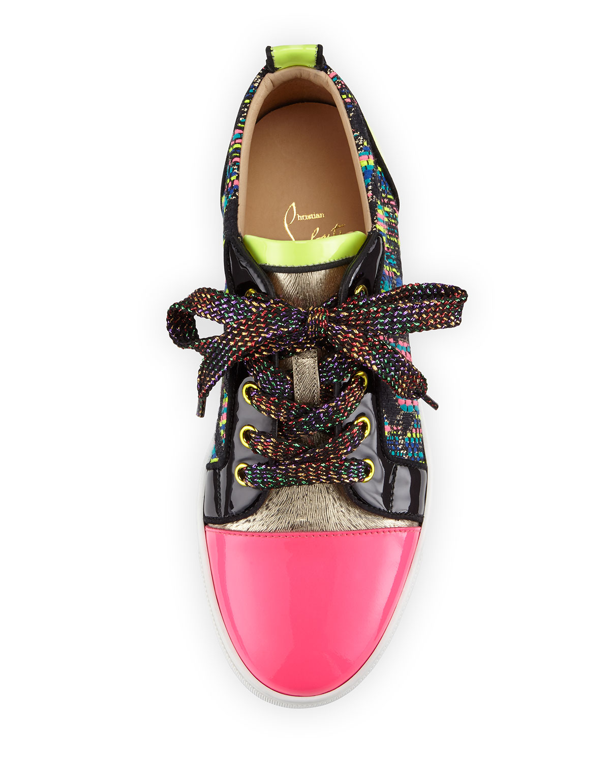 fake mens louboutin shoes - Christian louboutin Gondoliere Woven Low-top Sneaker in Multicolor ...