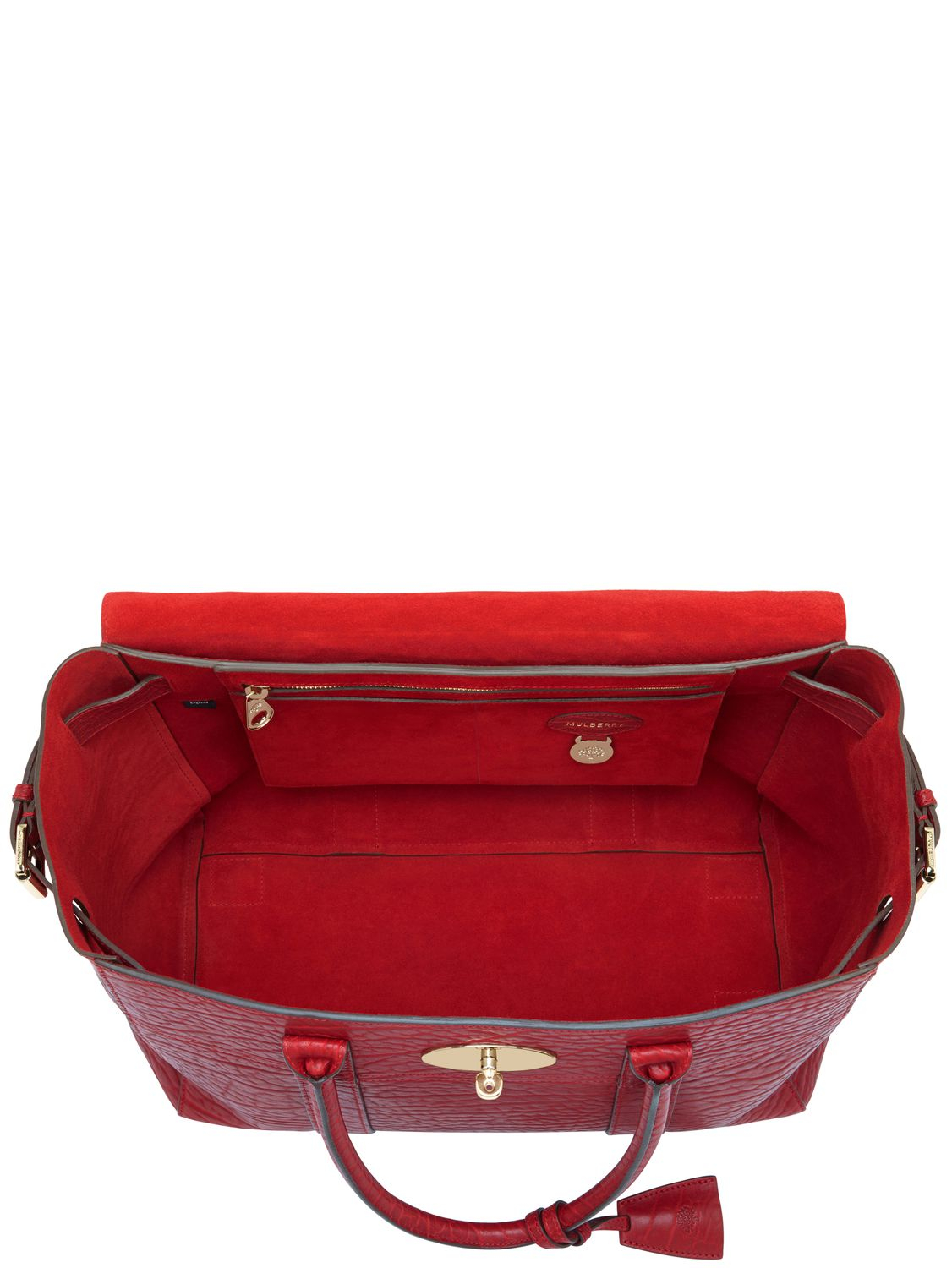 e3d08c7c62 ... discount lyst mulberry large bayswater shrunken leather bag in red  93776 200c7 ...