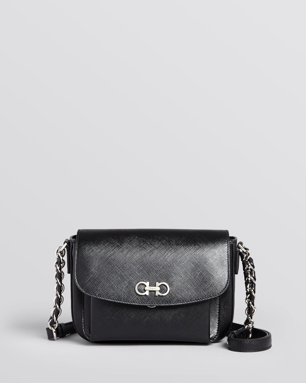 876daa72df Lyst - Ferragamo Shoulder Bag - Sandrine in Black