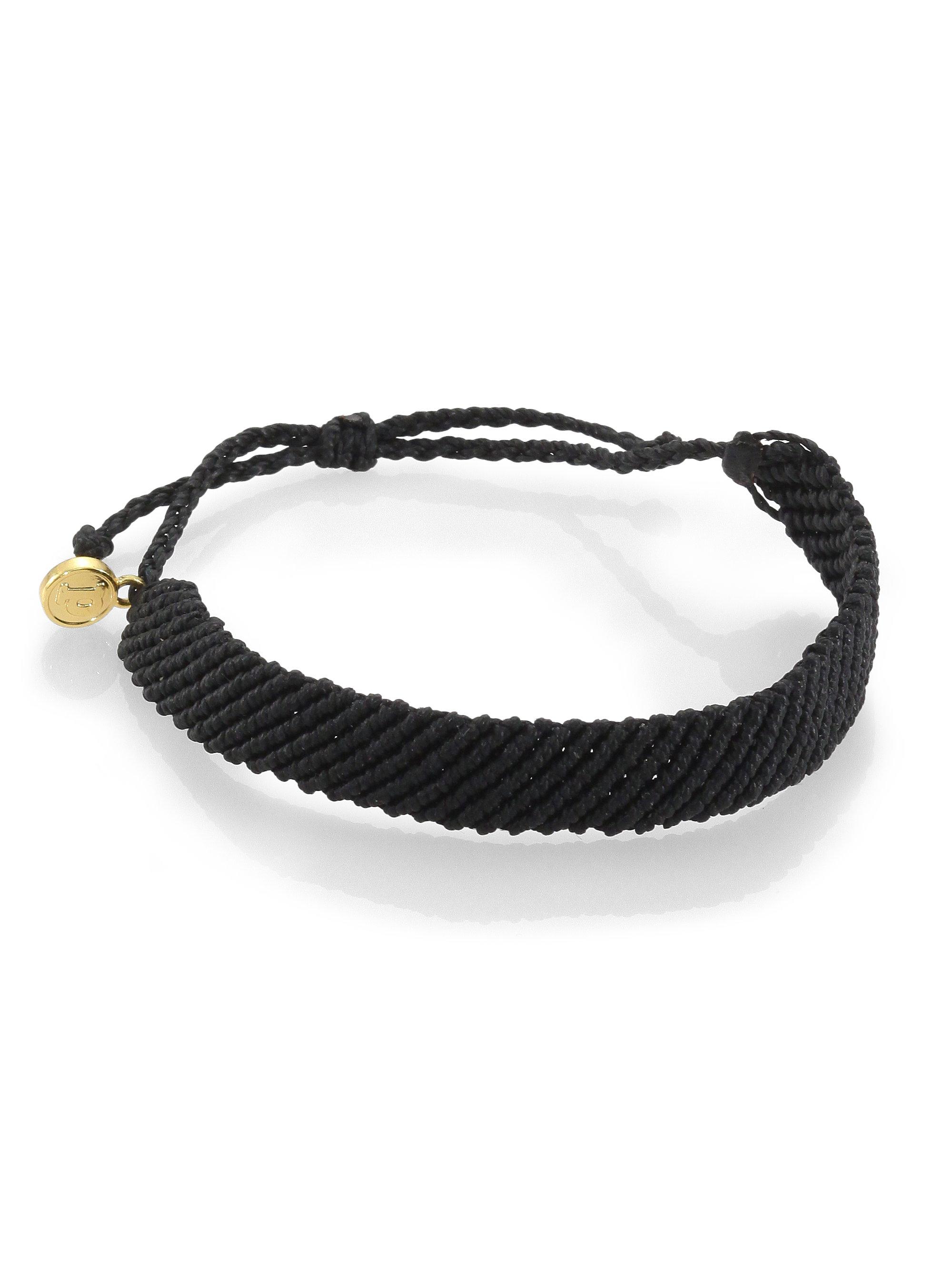 Lyst Pura Vida Flat Braided Bracelet In Black