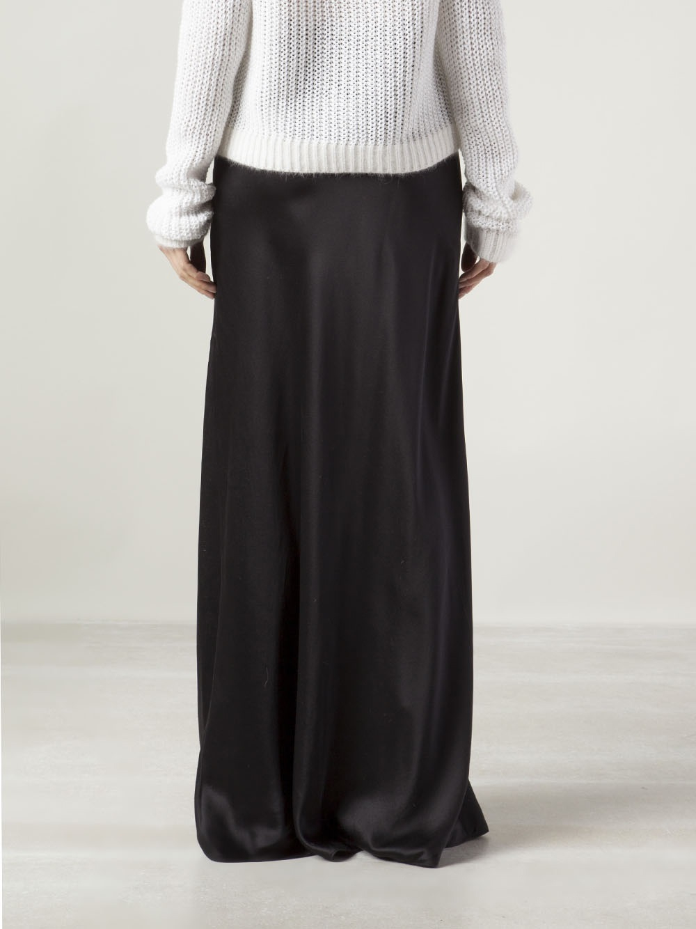 Tess Giberson Long Straight Skirt in Black | Lyst