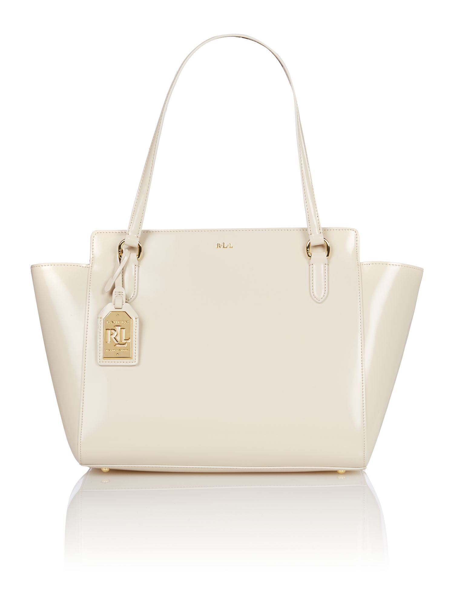 4e613b1bc8 ... denmark lauren by ralph lauren white large taylor tote bag in white lyst  dde6d a1169