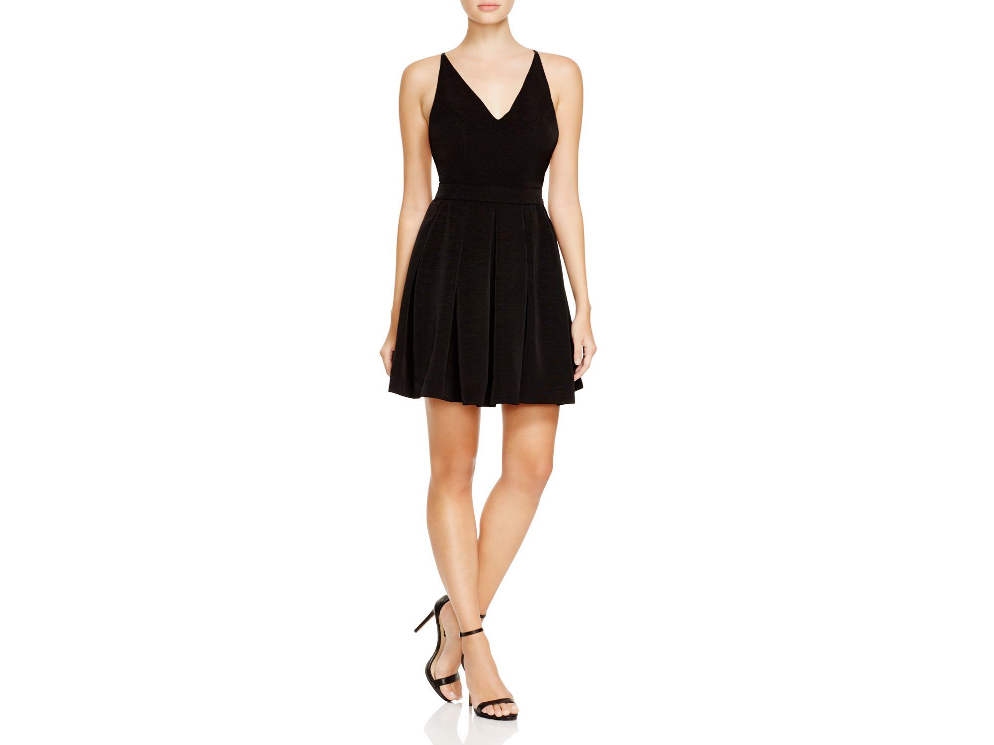 5b87508b40 Lyst - MINKPINK V-neck Cross-back Fit And Flare Dress in Black
