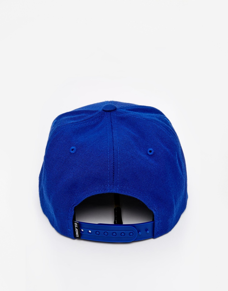 43dc32316de Lyst - Undefeated 5 Strike Snapback Cap in Blue for Men