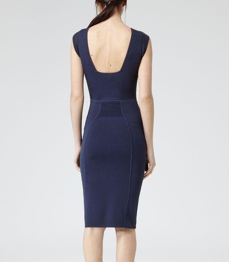 Knit Bodycon Dress in Blue