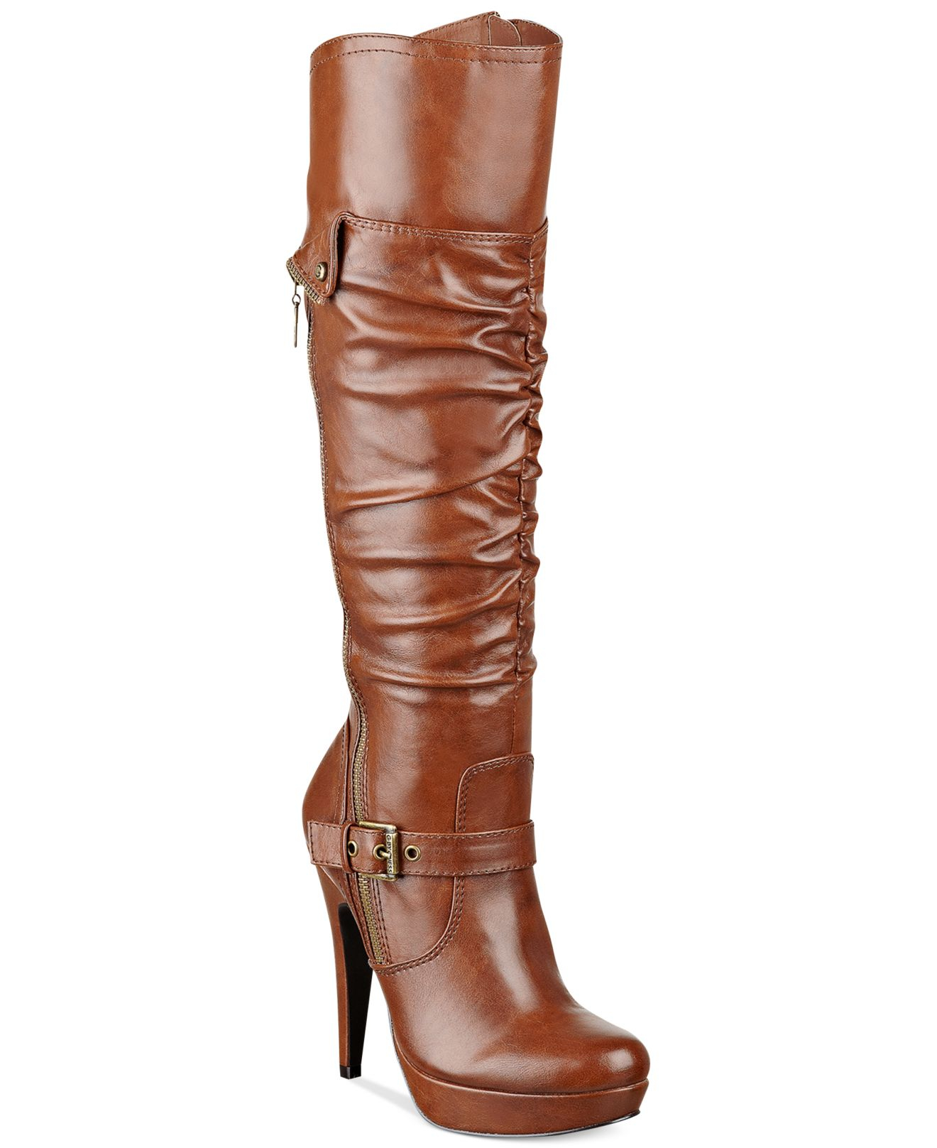 f71ce5b57ff Lyst - G by Guess Women S Drea Platform Dress Boots in Brown