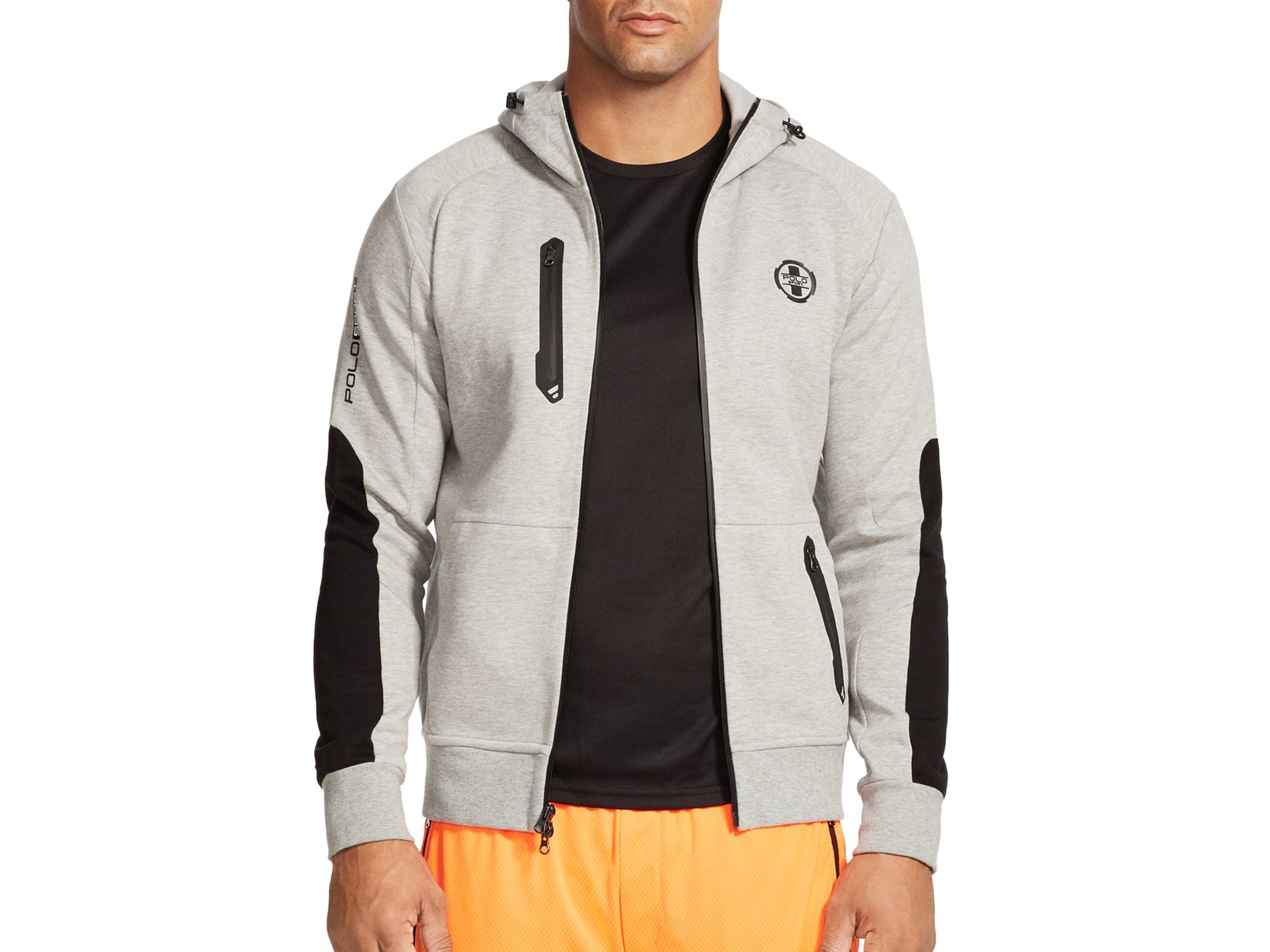 e9a698f0fa2b Lyst - Polo Ralph Lauren Double-knit Full-zip Hoodie in Gray for Men