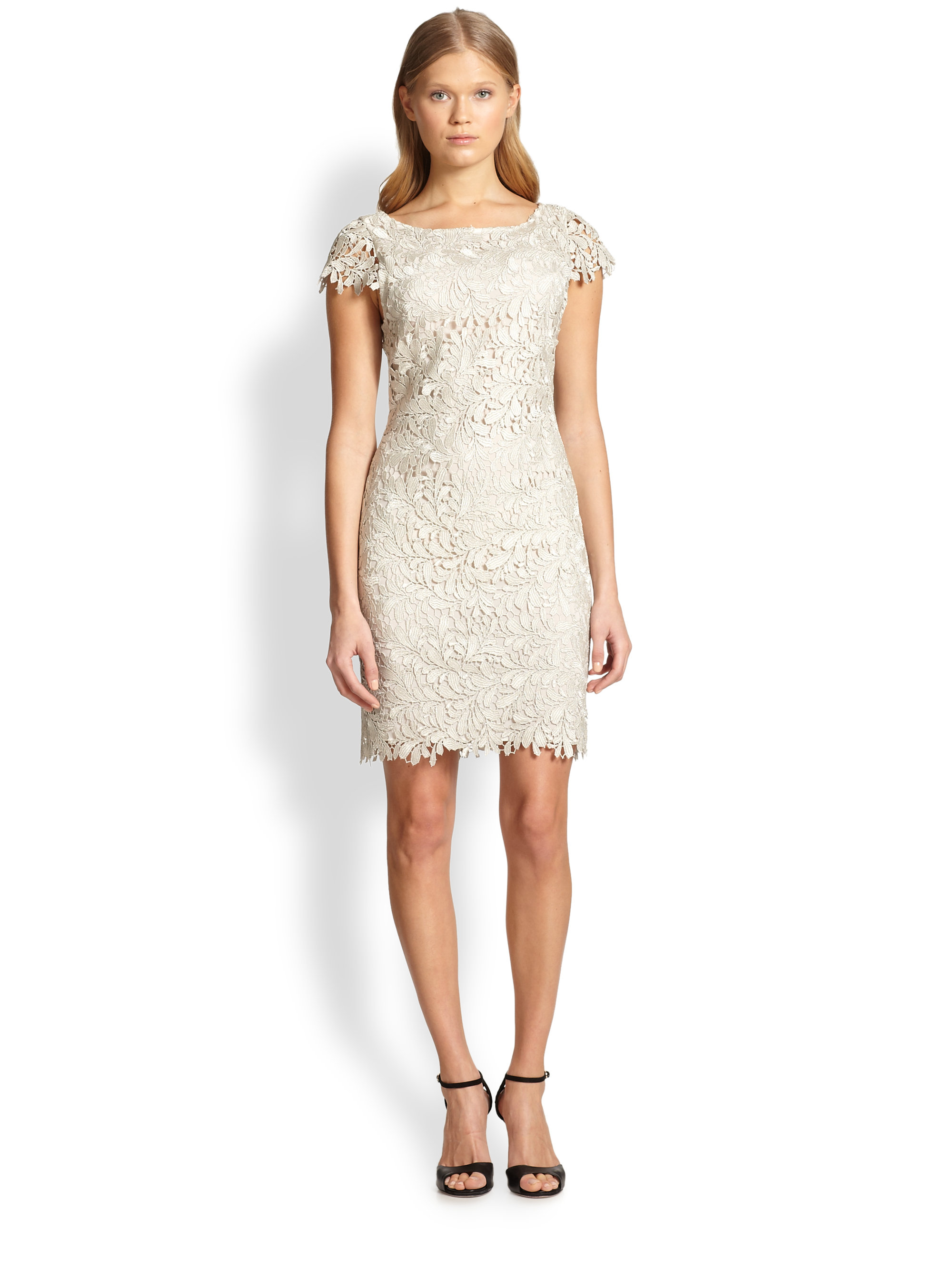 Alice   olivia Clover Lace Sheath Dress in White | Lyst