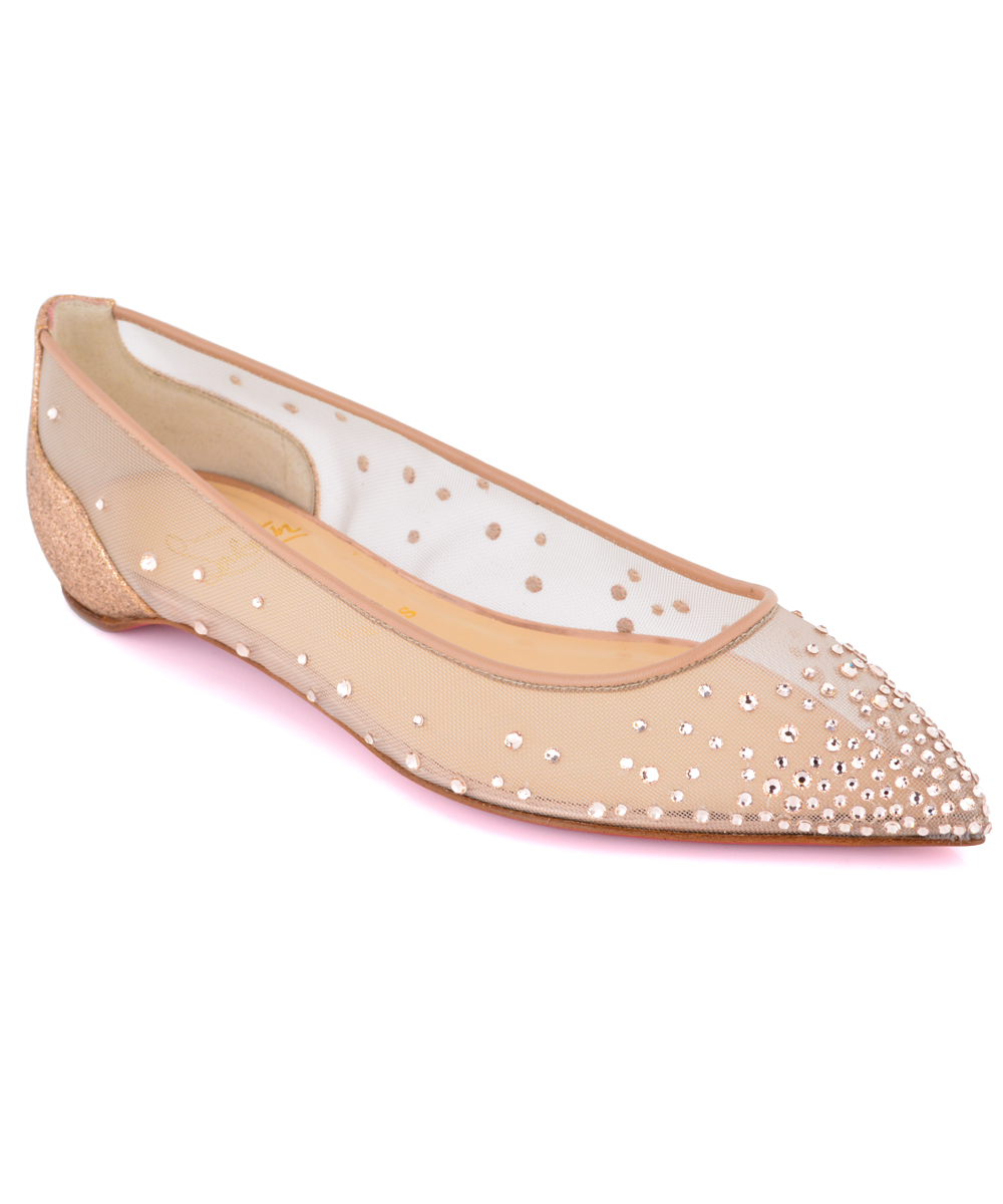 shoes christian louboutin replica - louboutin body strass flat Version Silver - Catholic Commission ...
