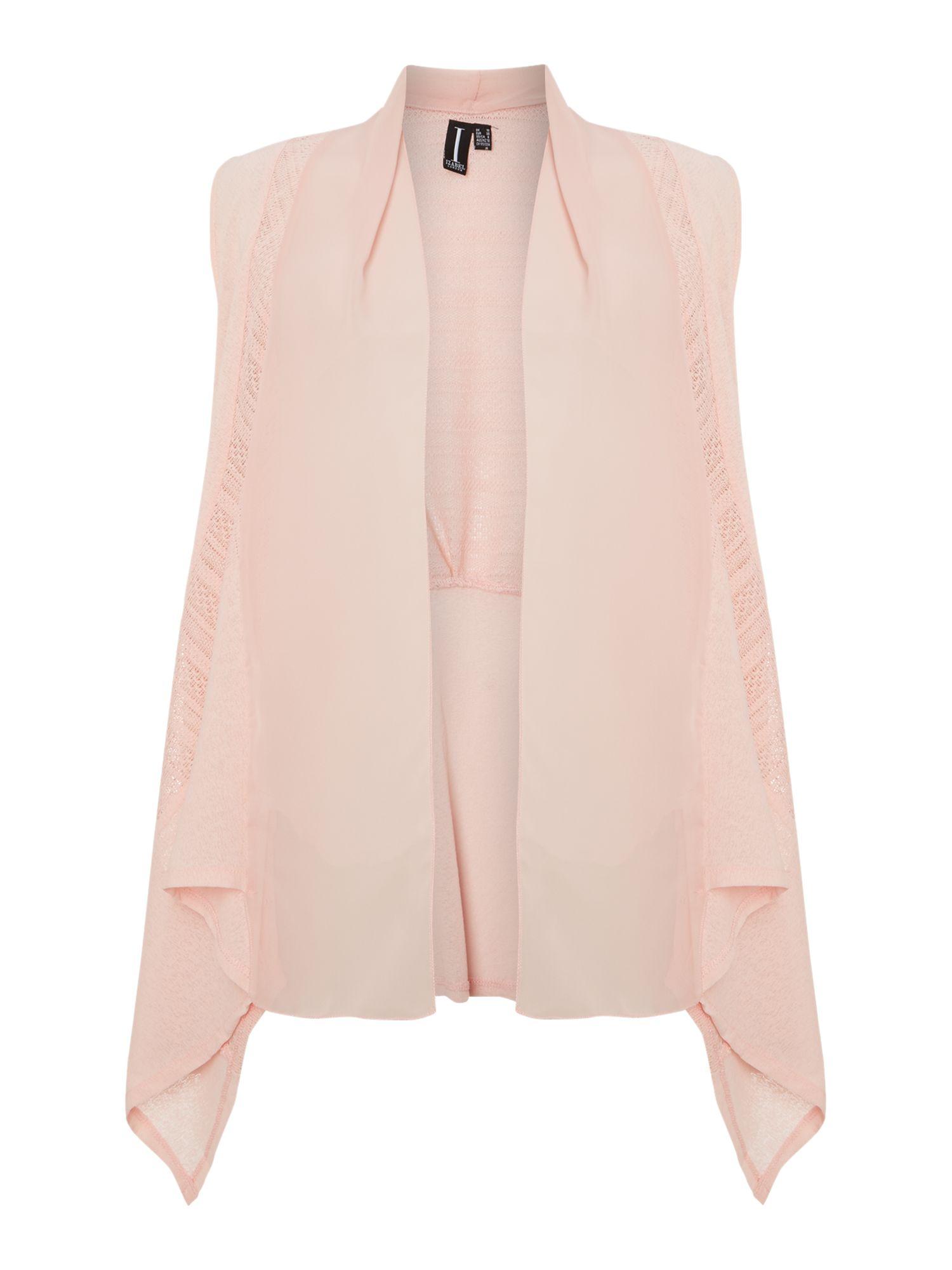 Izabel london Chiffon Style Waterfall Cardigan in Pink | Lyst