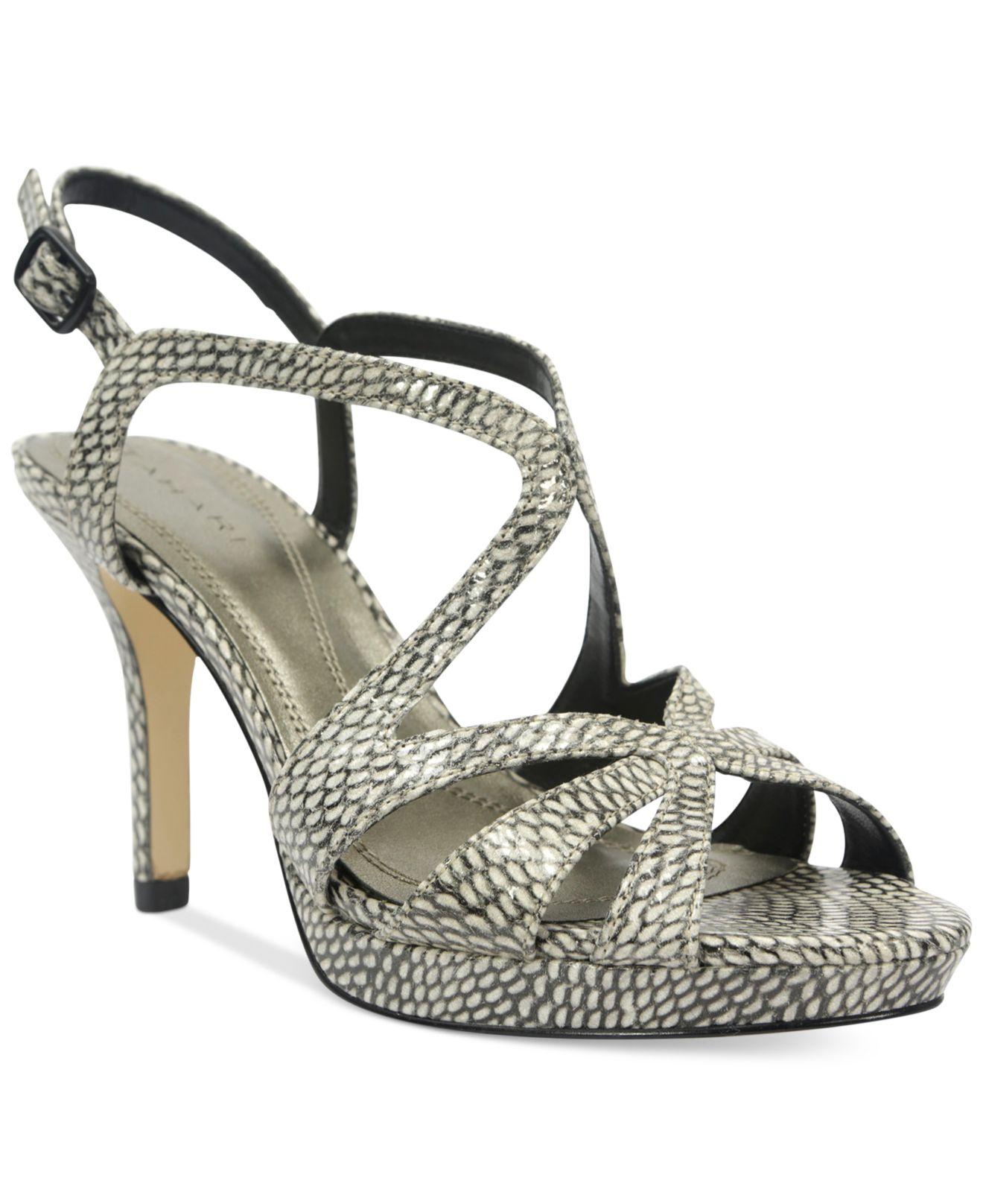 tahari balthasar platform dress sandals lyst
