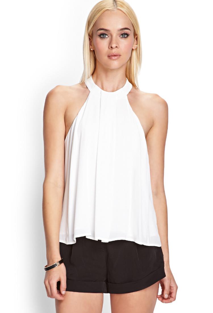 Ophelia Gloss PVC Halter Neck Top, 19,00  |Pvc White Halter Top