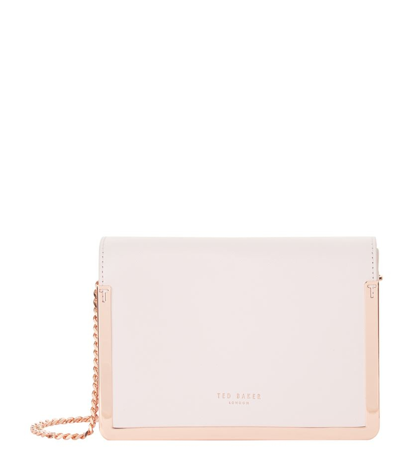 546cbddf410db2 Ted Baker Kamara Leather Crosshatch Cross Body Bag in Pink - Lyst