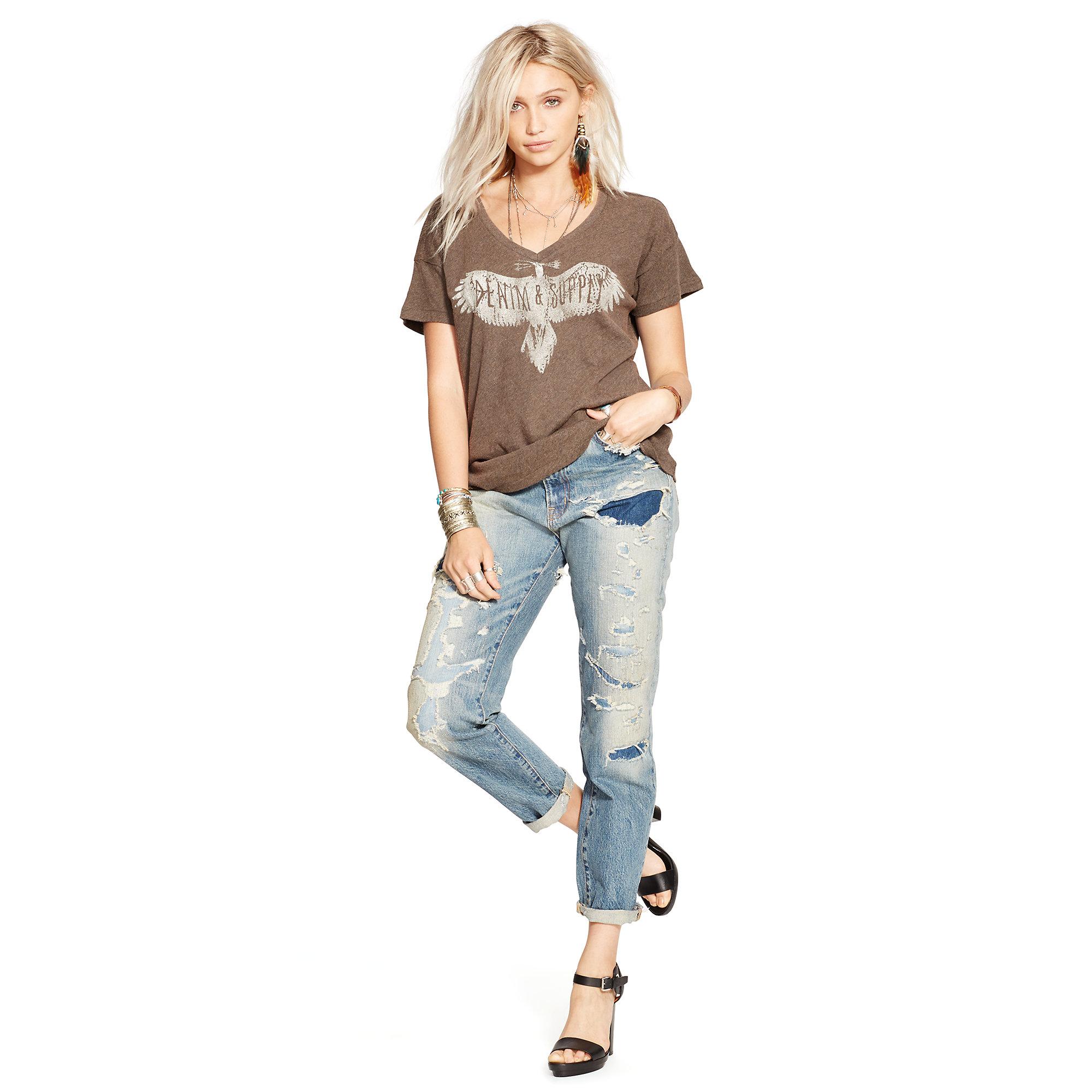 ralph lauren boyfriend jeans denim supply ralph lauren high rise bailey wash ralph lauren. Black Bedroom Furniture Sets. Home Design Ideas