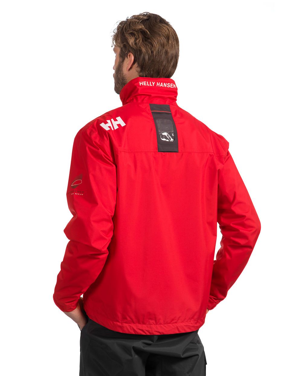 helly hansen crew midlayer jacket in red for men lyst. Black Bedroom Furniture Sets. Home Design Ideas