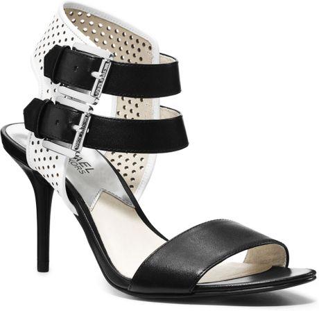 michael kors michael dakota opentoe sandal in black black