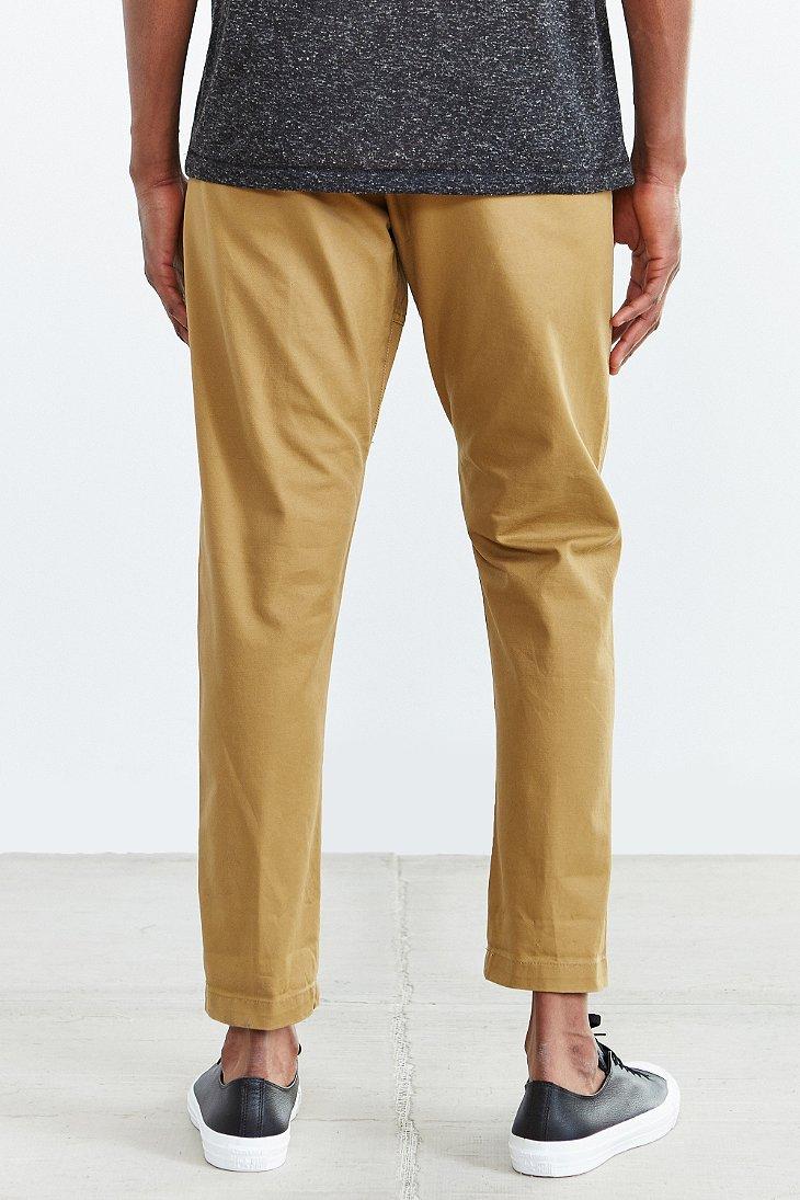 Obey Traveler Elastic Waist Pant in Brown for Men | Lyst