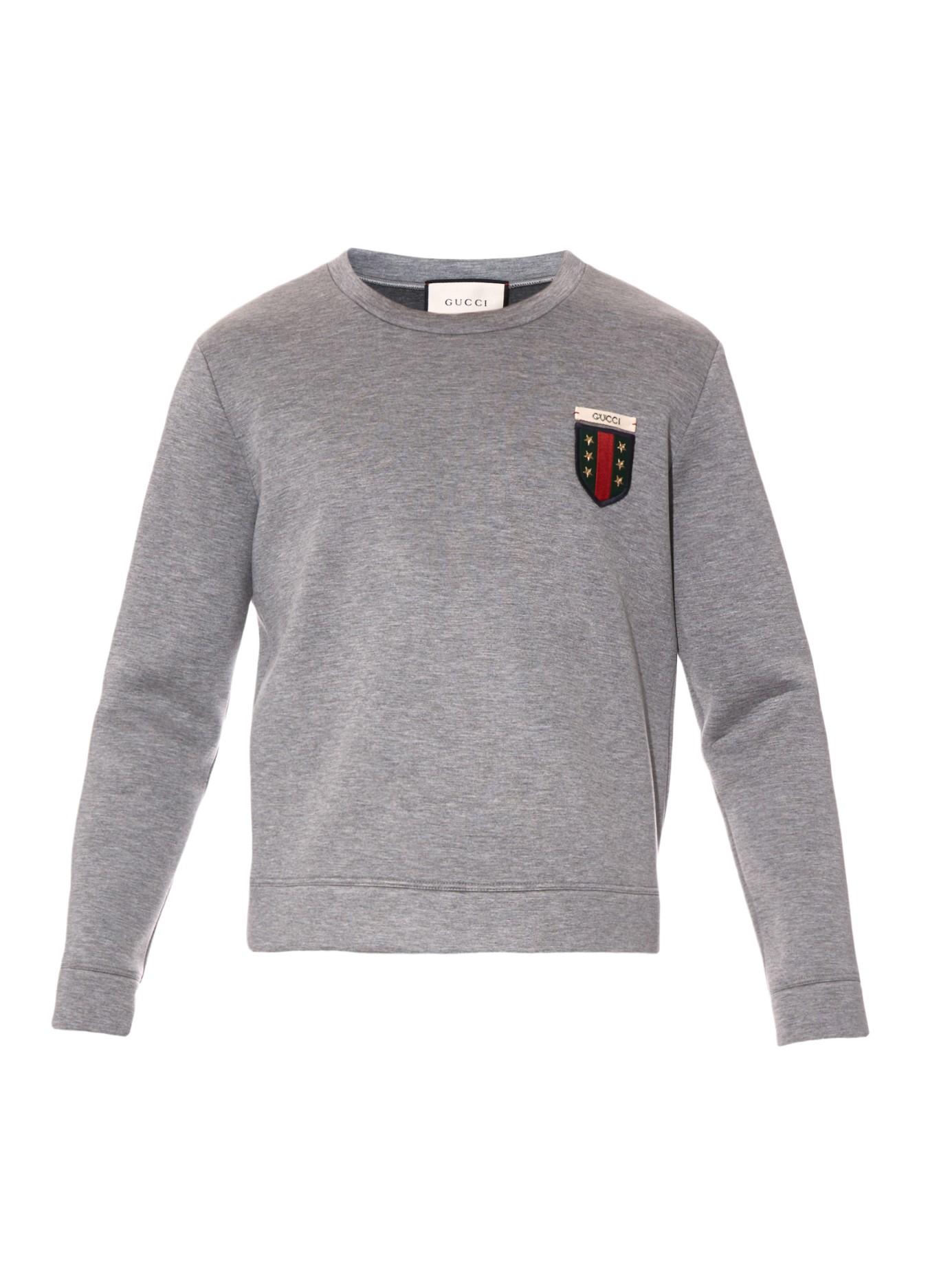 a2dbe0b77d8 Lyst - Gucci Crew-neck Neoprene Sweatshirt in Gray for Men