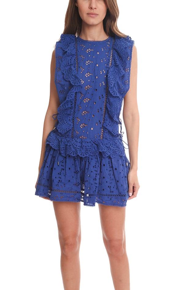 Lyst Zimmermann Hyper Eyelet Flip Dress In Blue