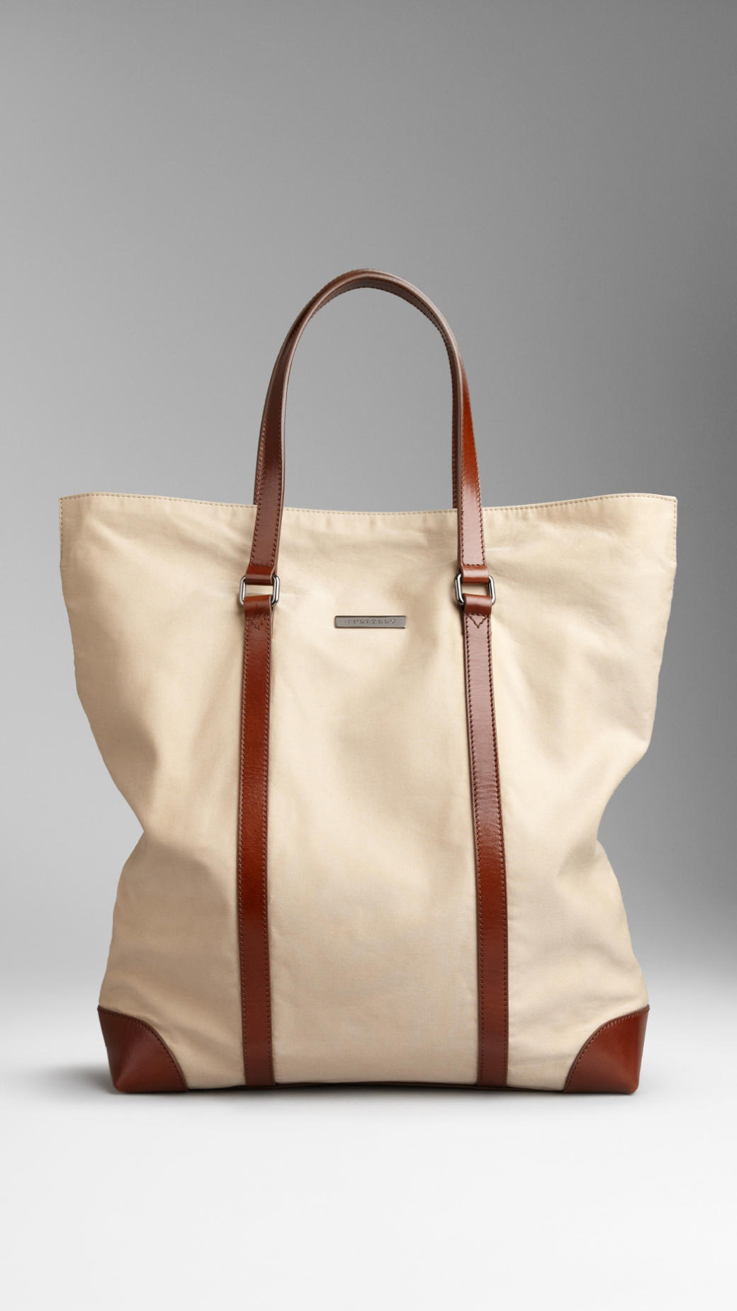 Lyst Burberry Cotton Gabardine Tote Bag In Natural For Men