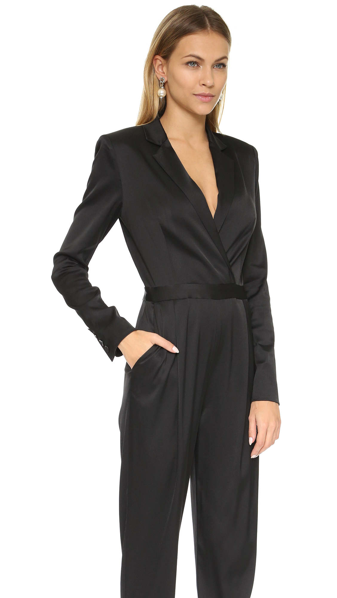 Botega Veneta black tuxedo style jumpsuit size 40 lightweight wool EUC! SEE MORE DETAILS SEE SIMILAR PRODUCTS. Nwt Phillip Lim Tuxedo $ CLOSE X $ 65 From Ebay NWT Phillip Lim Tuxedo Black Jumpsuit. SEE MORE DETAILS SEE SIMILAR PRODUCTS. $ Nwt A.L.C Beni Tuxedo.