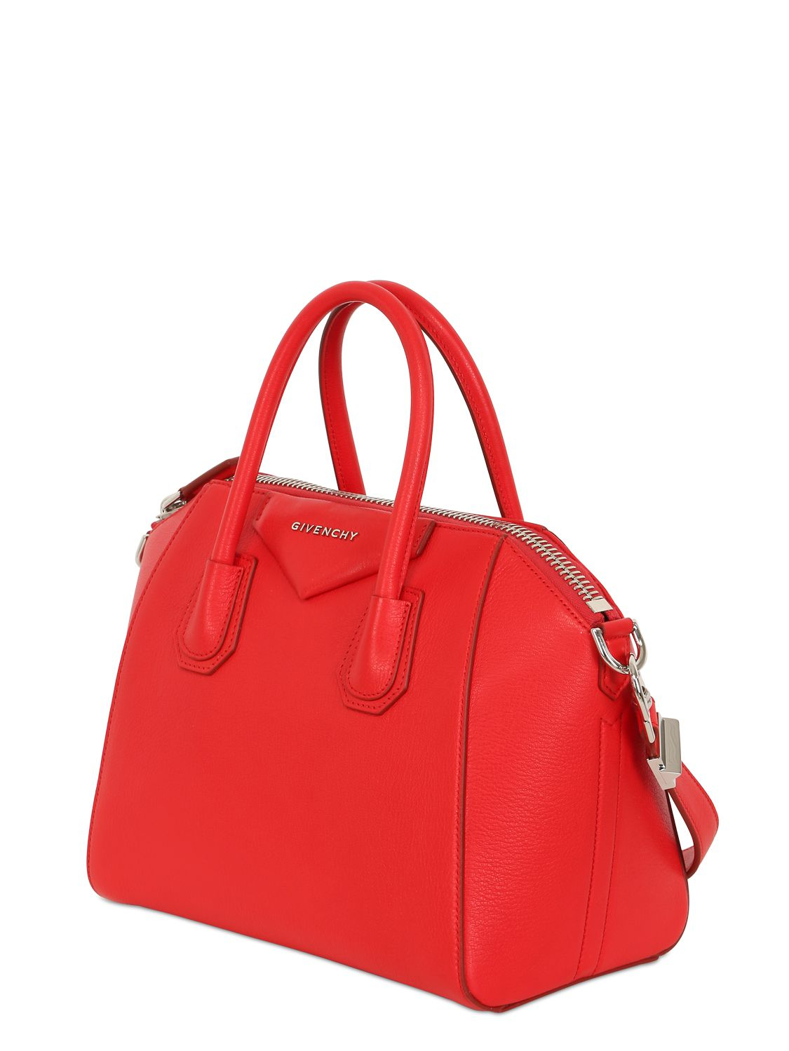 f25140a0b23c Lyst - Givenchy Small Antigona Grained Leather Bag in Red