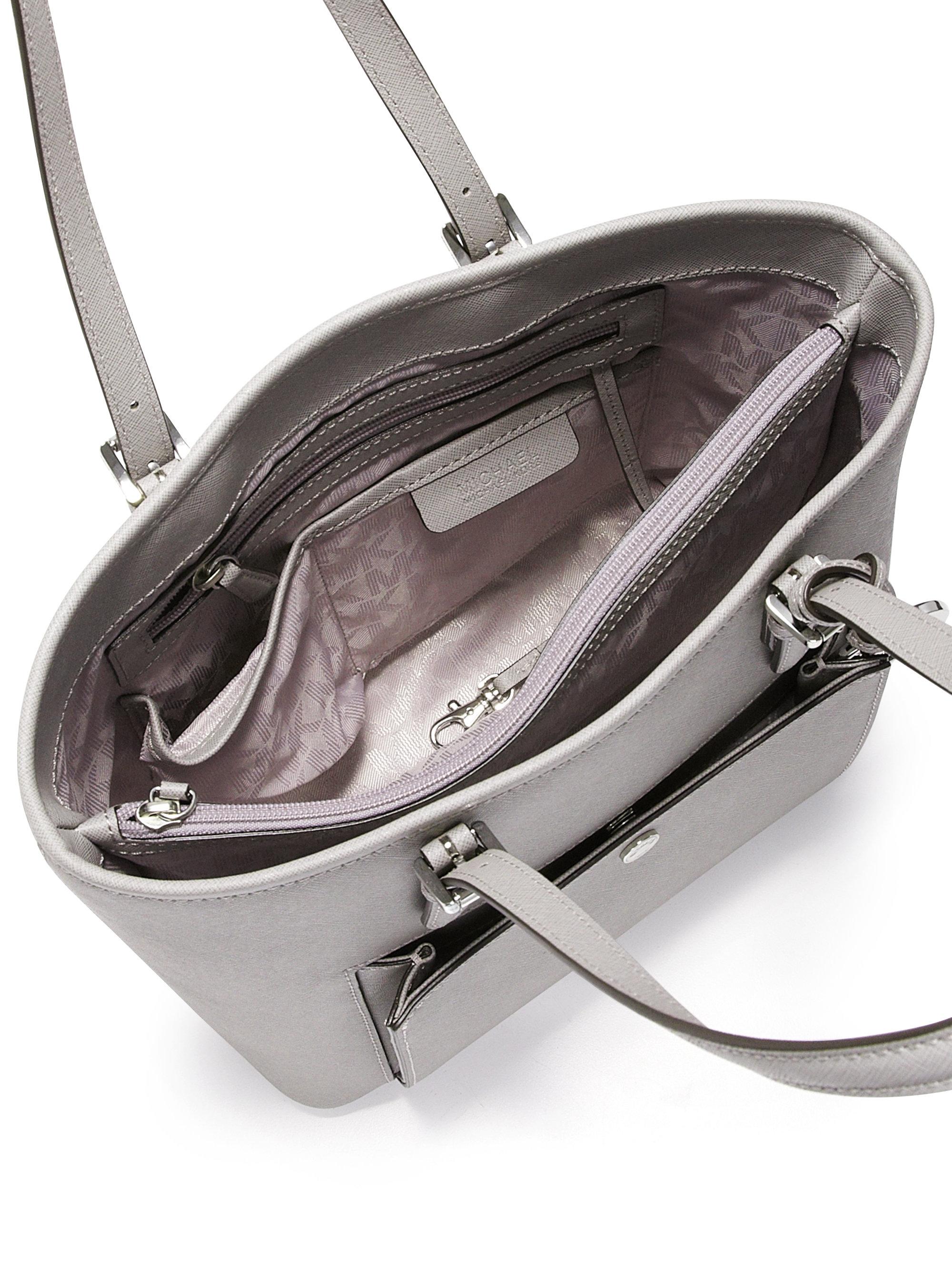c0817326f4f3 MICHAEL Michael Kors Jet Set Medium Saffiano Leather Snap-pocket ...